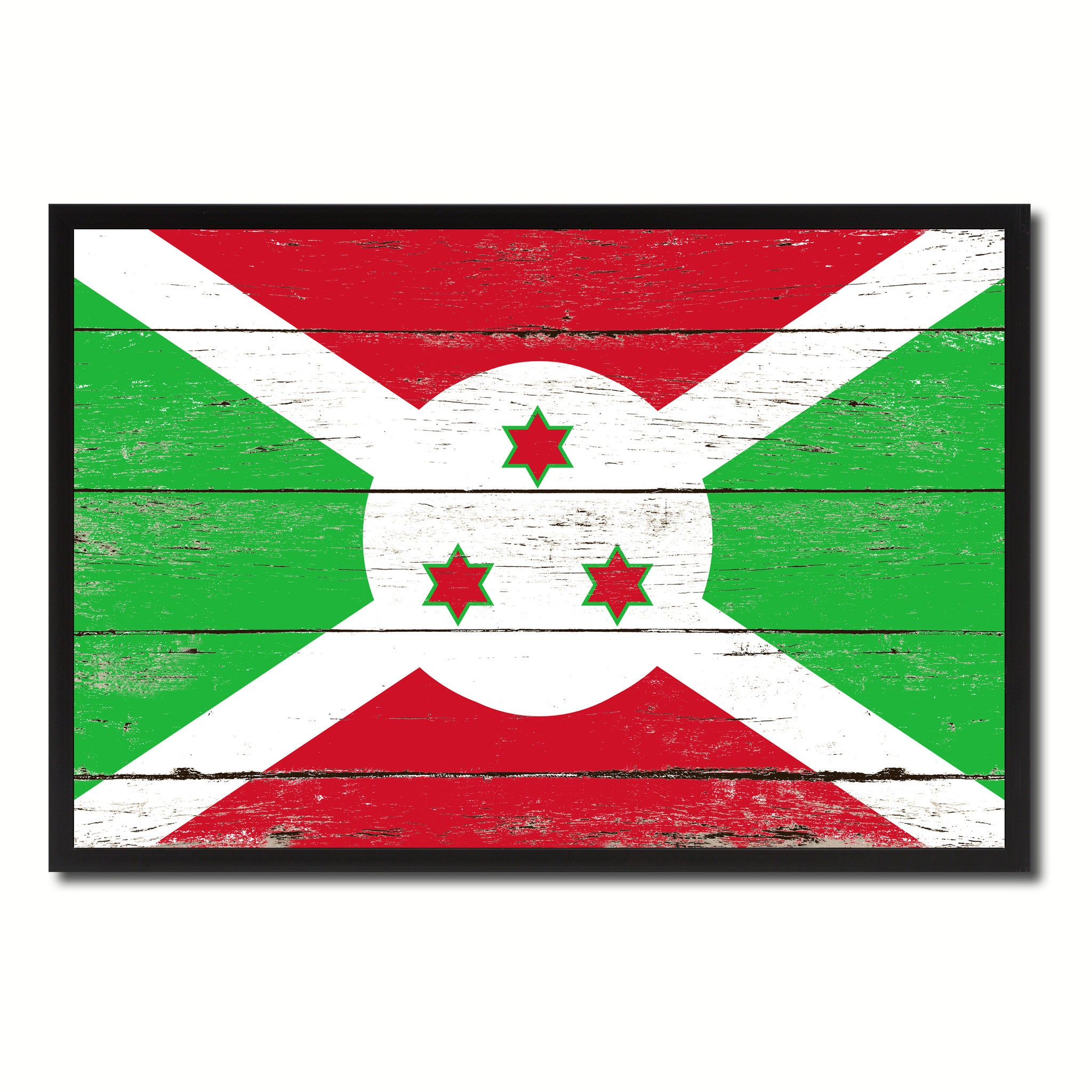 Burundi Country National Flag Vintage Canvas Print with Picture Frame Home Decor Wall Art Collection Gift Ideas