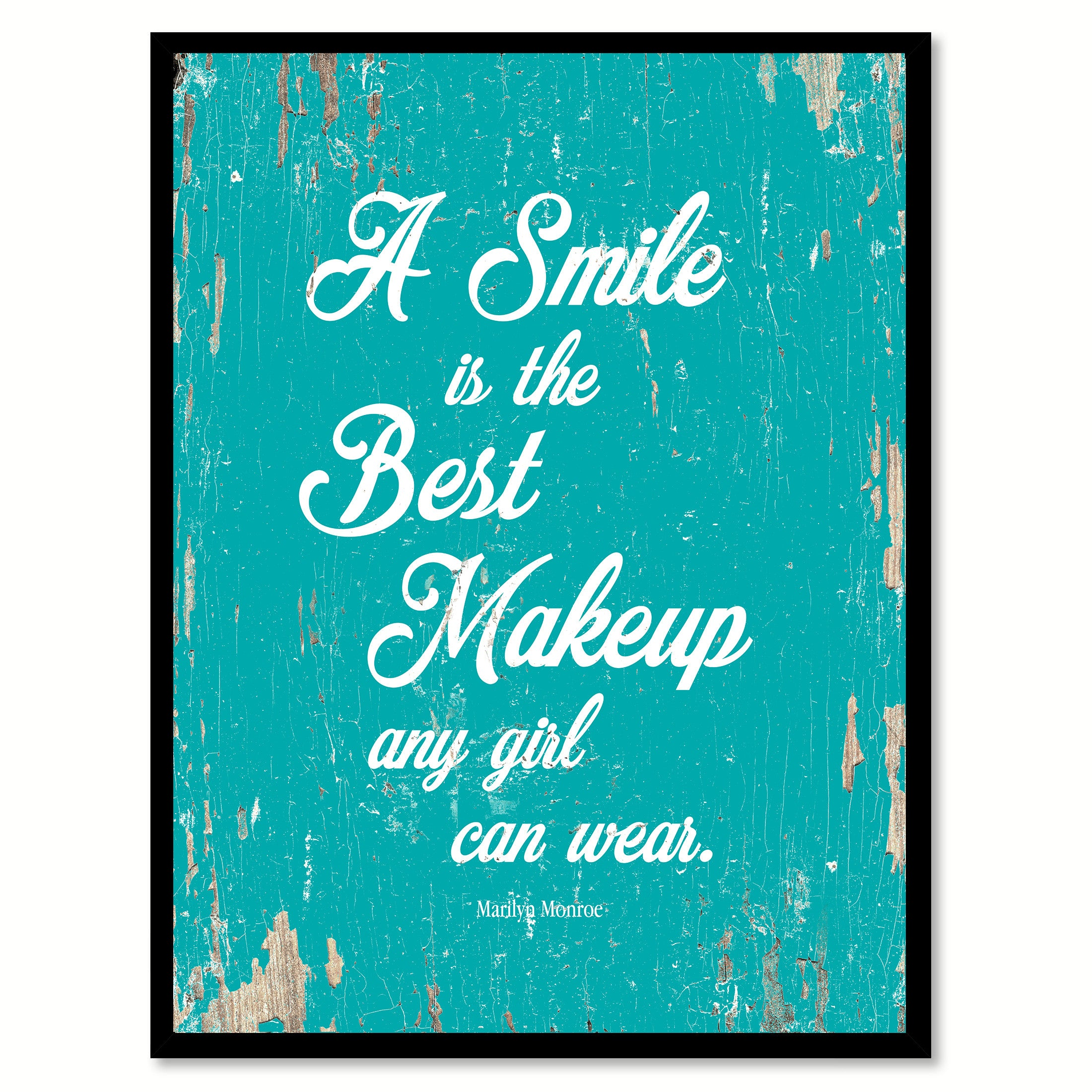 A Smile Is The Best Makeup Marilyn Monroe Quote Saying Home Decor Wall Art Gift Ideas 111665