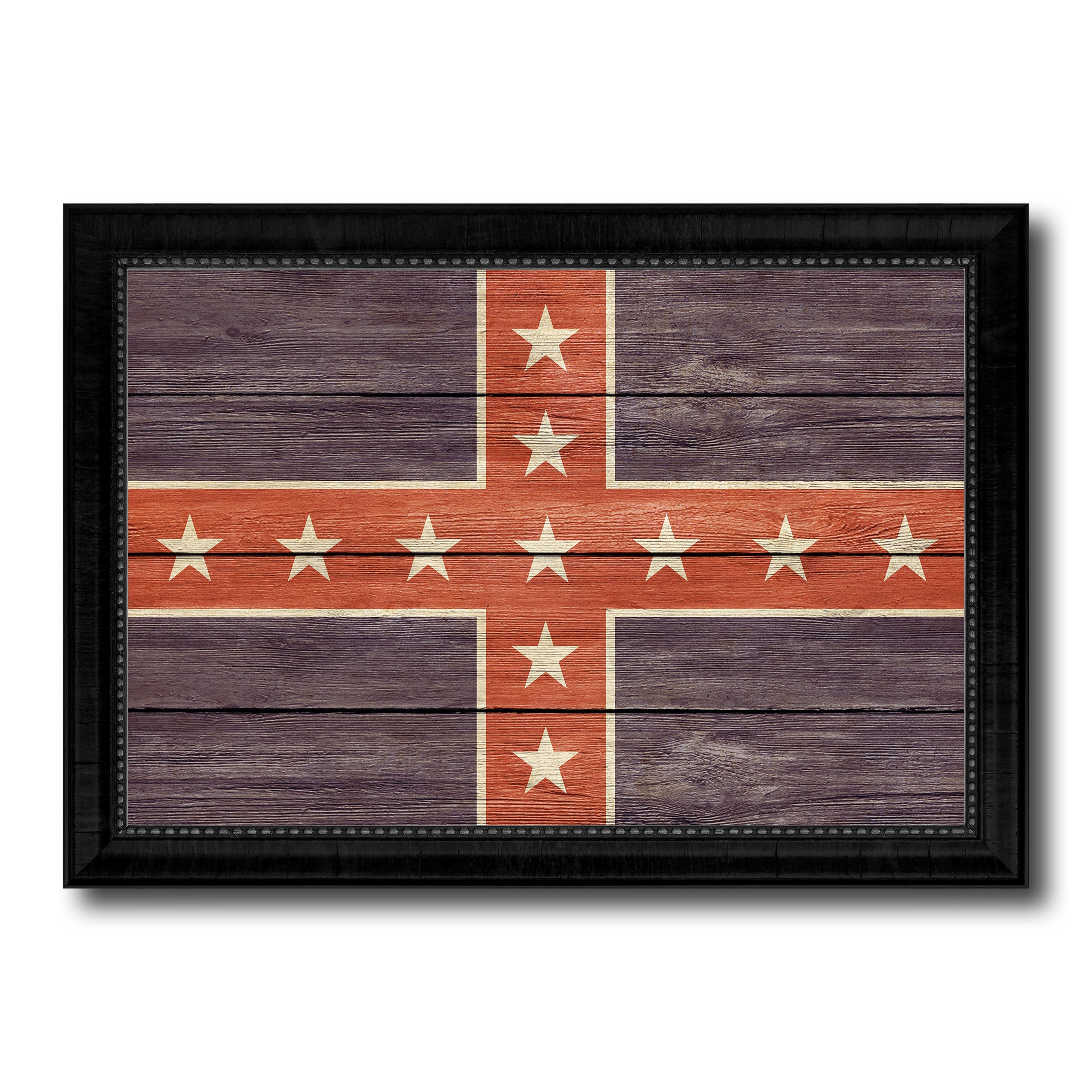 Army of Tennessee Military Flag Texture Canvas Print with Black Picture Frame Gift Ideas Home Decor Wall Art