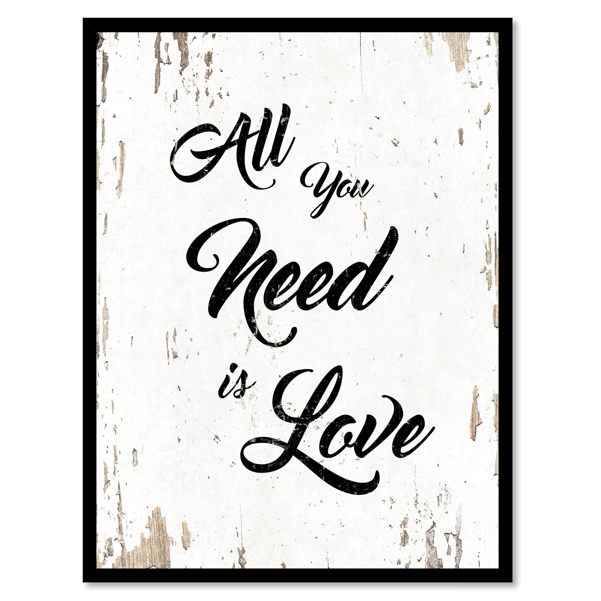 All You Need Is Love Happy Love Quote Saying Home Decor Wall Art Gift Ideas 111676