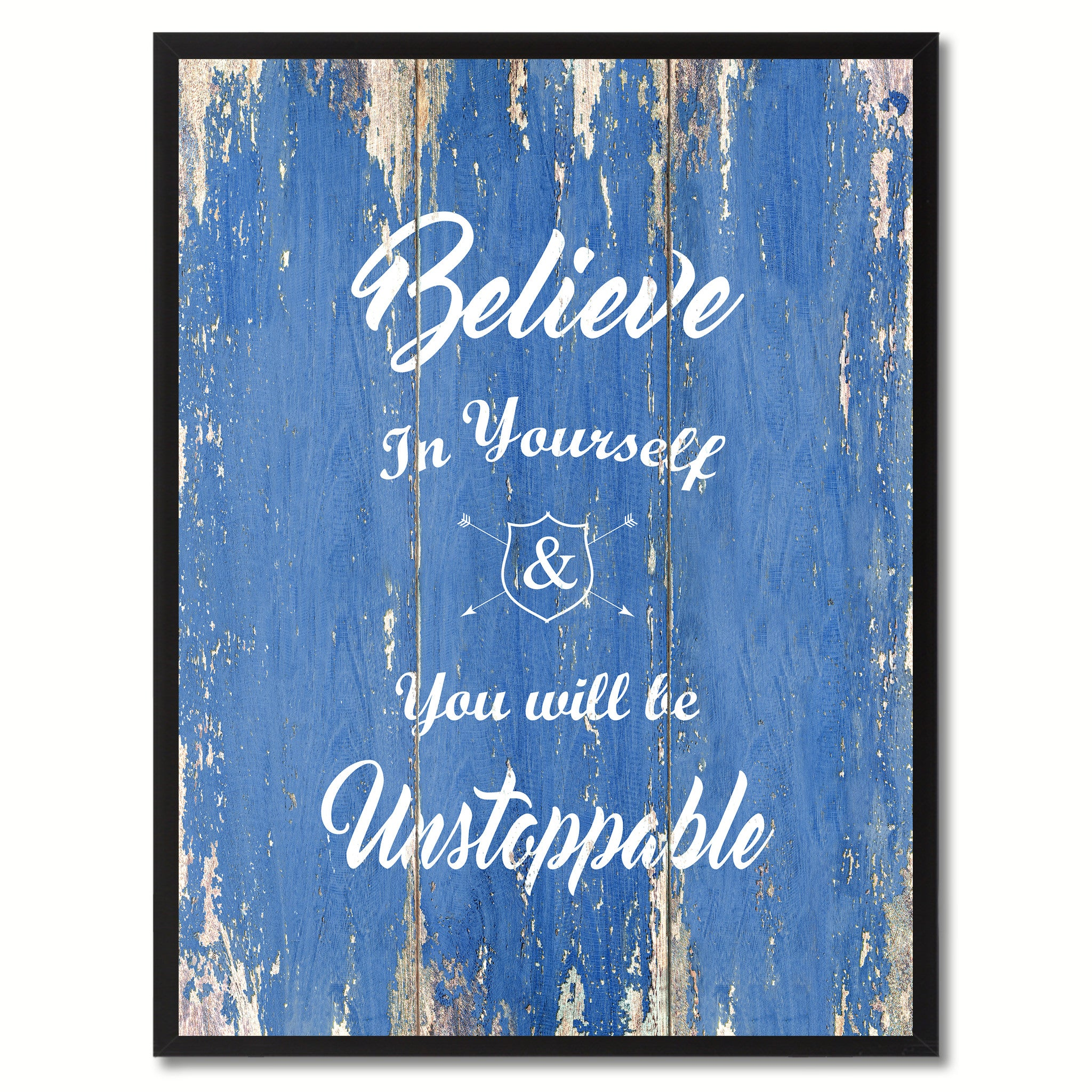 Believe In Yourself You Will Be Unstoppable Quote Saying Gift Ideas Home Décor Wall Art