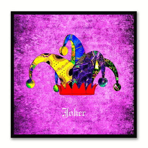 Joker Purple Canvas Print Black Frame Kids Bedroom Wall Home Décor