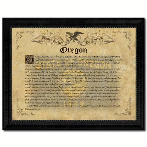 Oregon Vintage History Flag Canvas Print, Picture Frame Gift Ideas Home Décor Wall Art Decoration
