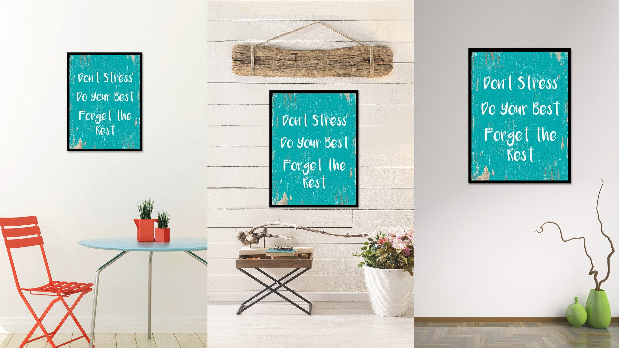 Don't Stress Do Your Best Forget The Rest Quote Saying Home Decor Wall Art Gift Ideas 111721