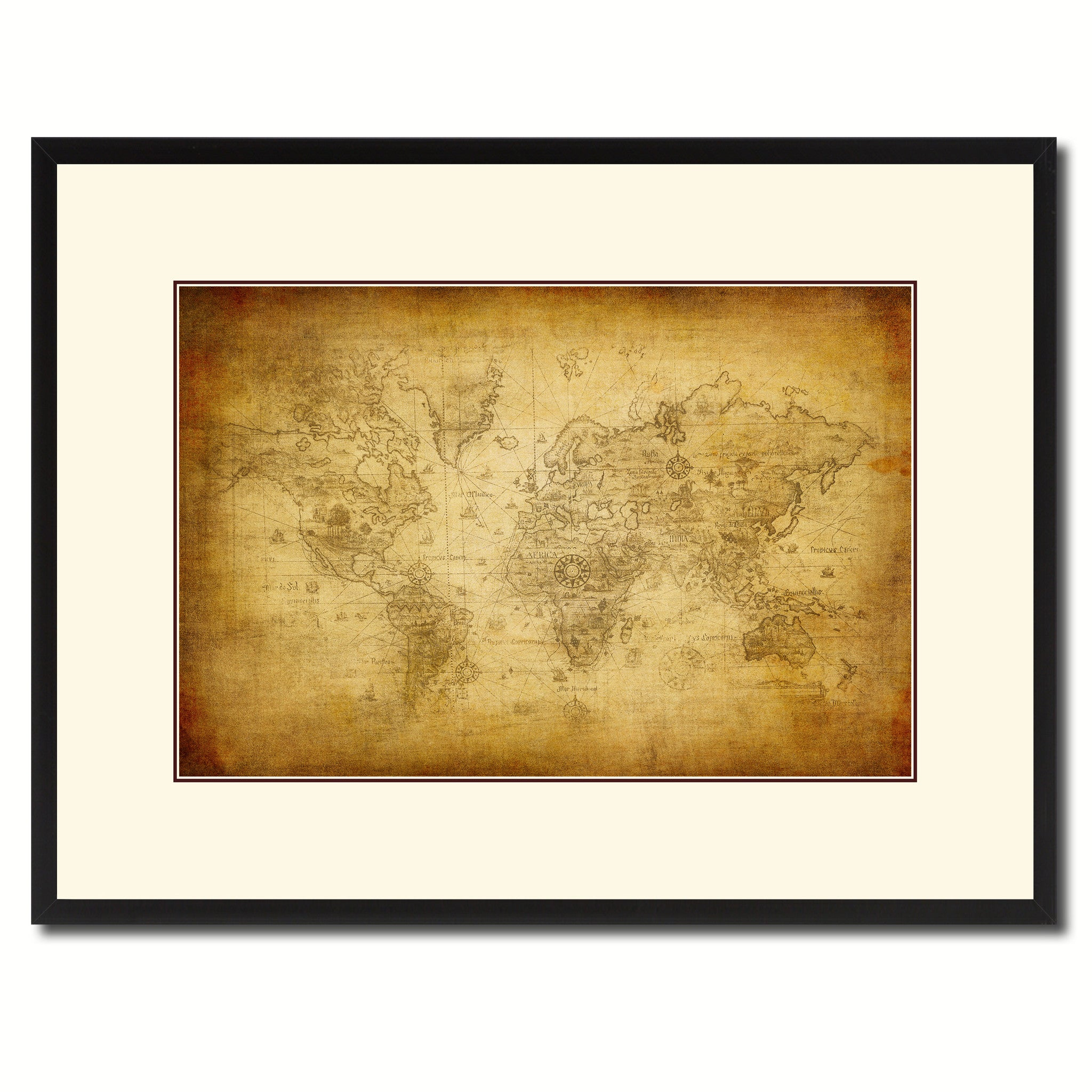 Ancient World Vintage Antique Map Wall Art Bedroom Home Decor Gift ...