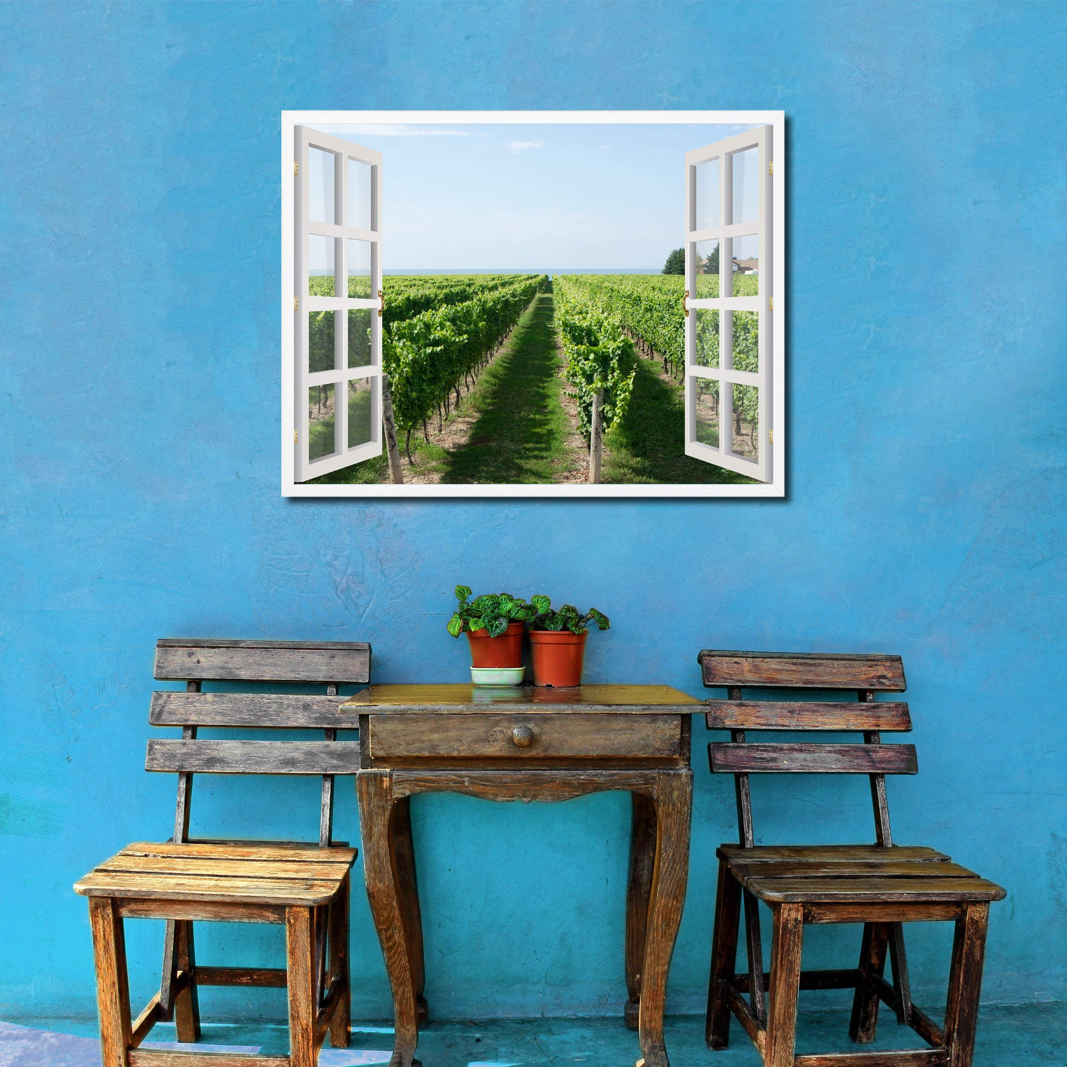 Wine Vineyard Ontario Canada Picture Window Wall Art Home Decor Gift ...
