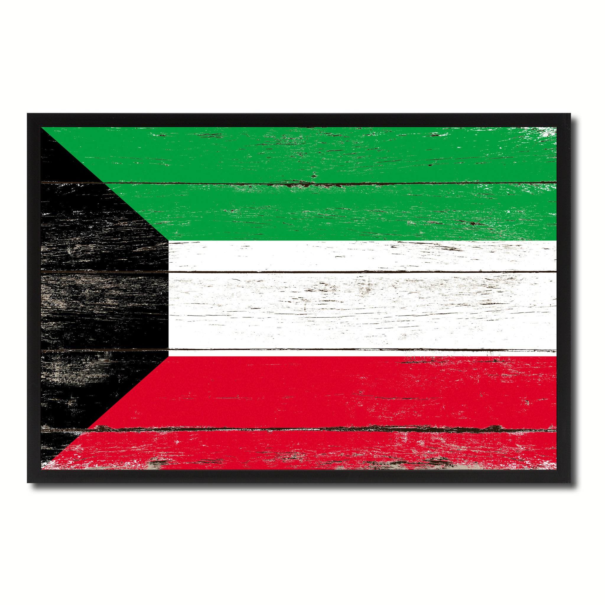Kuwait Country National Flag Vintage Canvas Print with Picture Frame Home Decor Wall Art Collection Gift Ideas