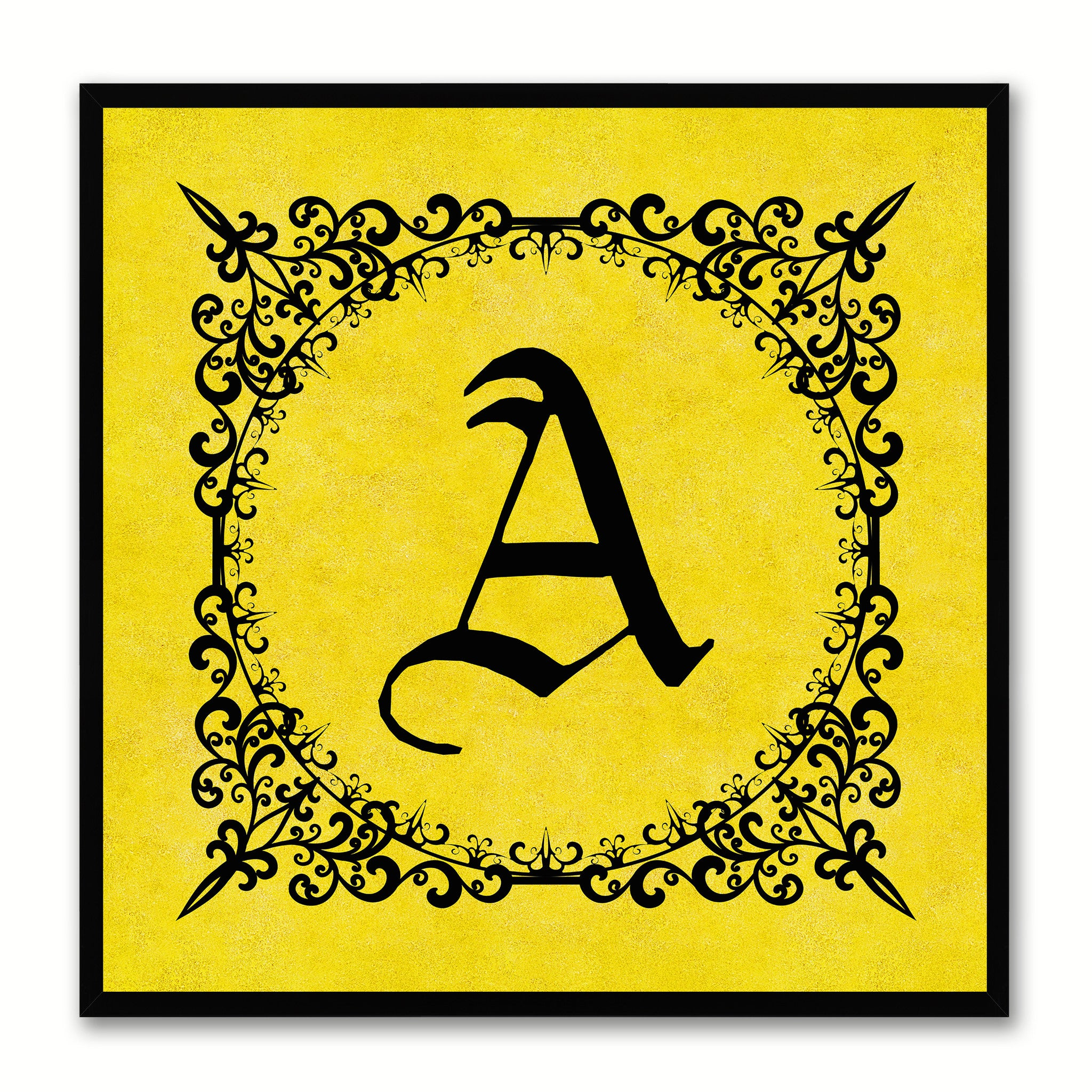 Alphabet Letter Initial Typography Kids Bedroom Wall Art Home Décor ...