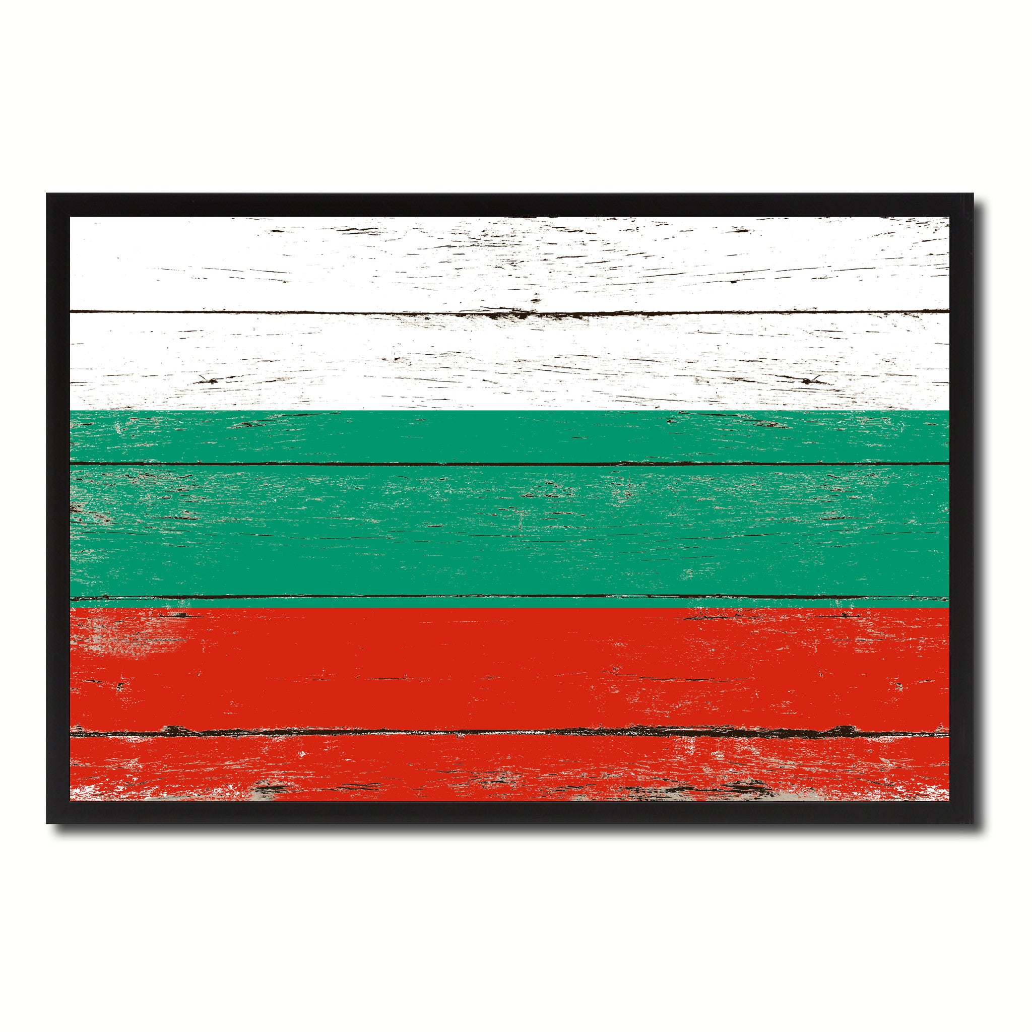 Bulgaria Country National Flag Vintage Canvas Print with Picture Frame Home Decor Wall Art Collection Gift Ideas
