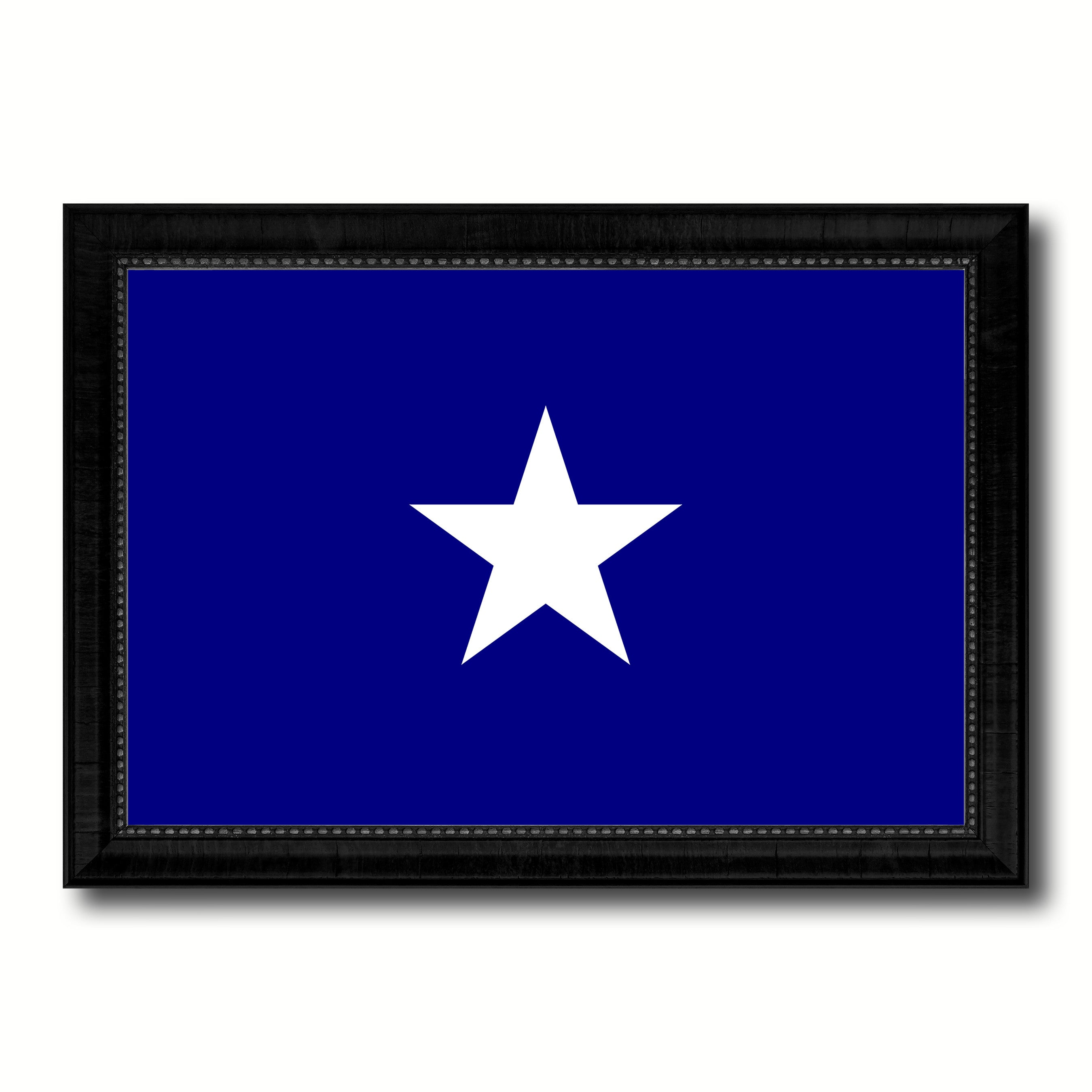 Bonnie Blue in Republic of West Florida Military Flag Canvas Print Black Picture Frame Gifts Home Decor Wall Art