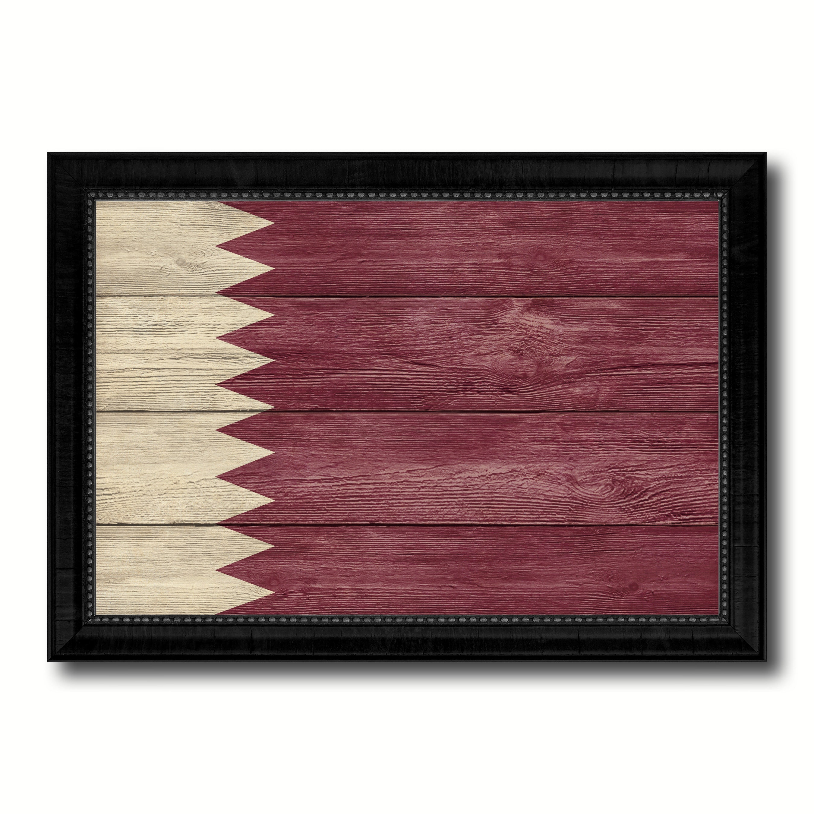 Qatar Country Flag Texture Canvas Print With Black Picture Frame Home Decor  Wall Art Decoration Collection Gift Ideas