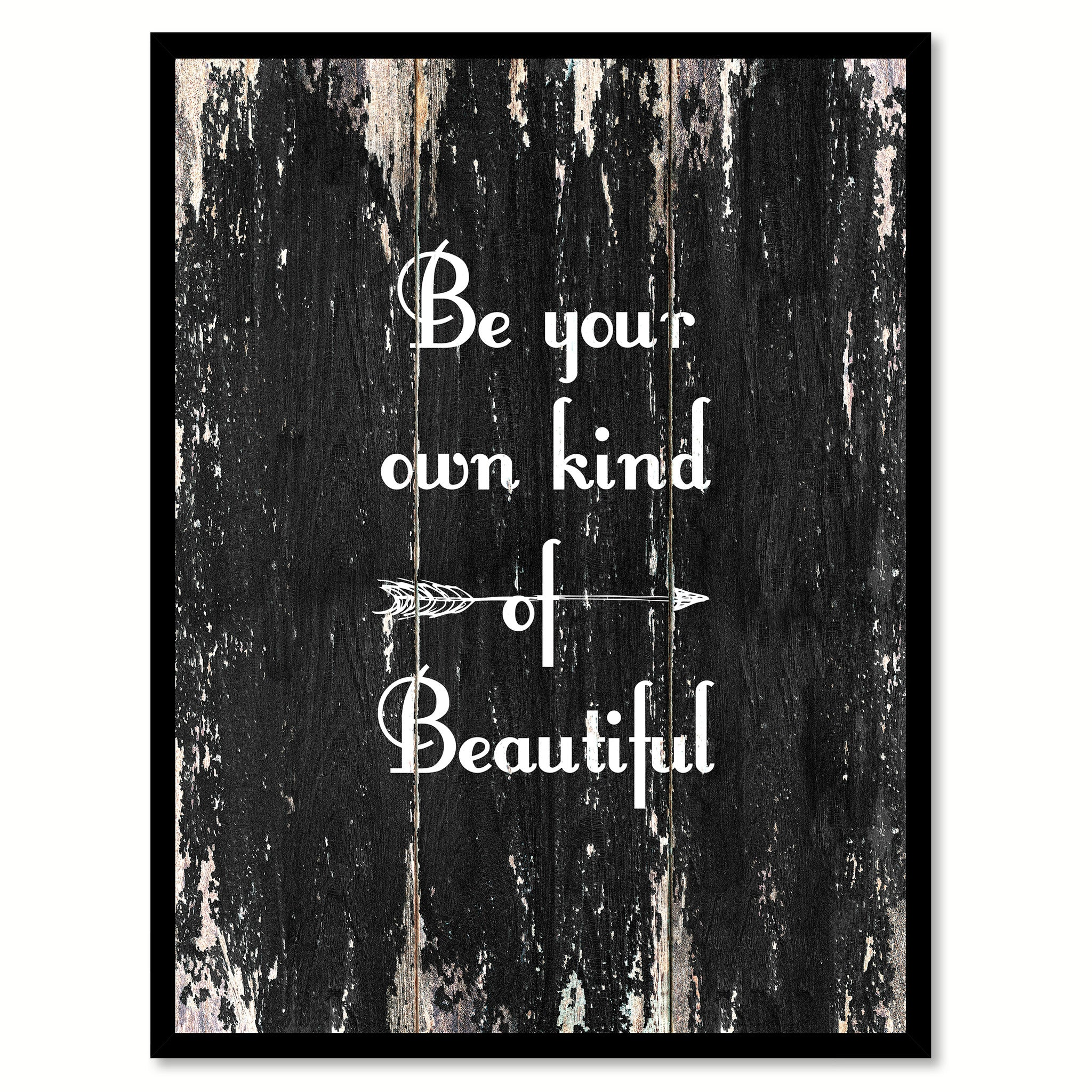 Be your own kind of beautiful 2 Quote Saying Canvas Print with Picture Frame Home Decor Wall Art
