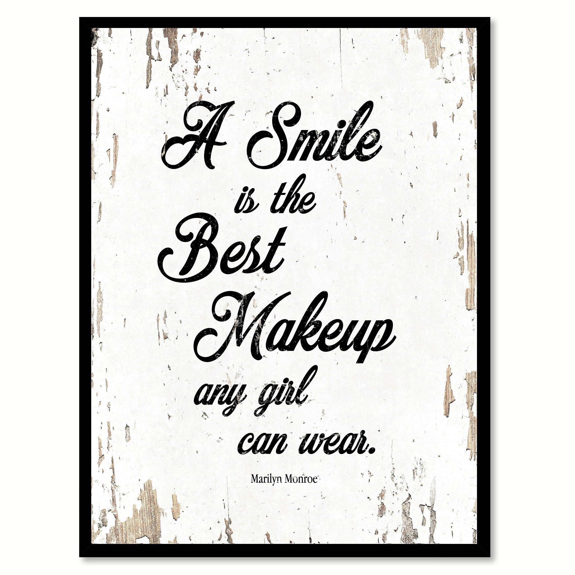 A Smile Is The Best Makeup Marilyn Monroe Inspirational Motivation