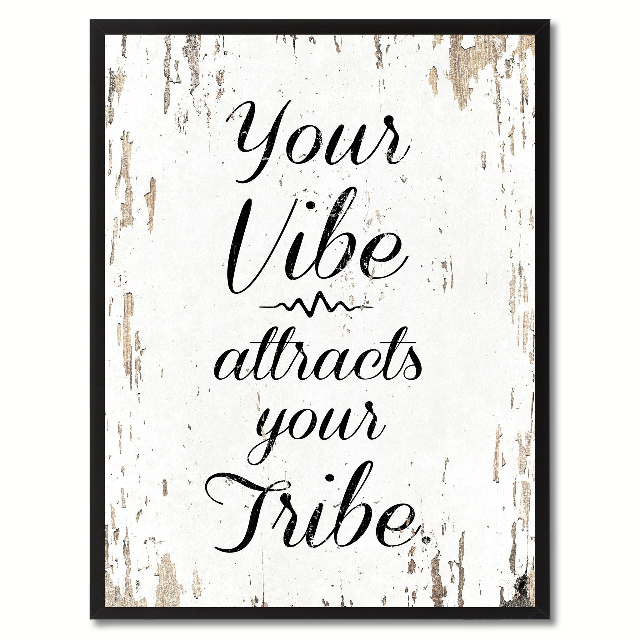 Quotes Wall Art Your Vibe Attracts Your Tribe Inspirational Motivation Saying