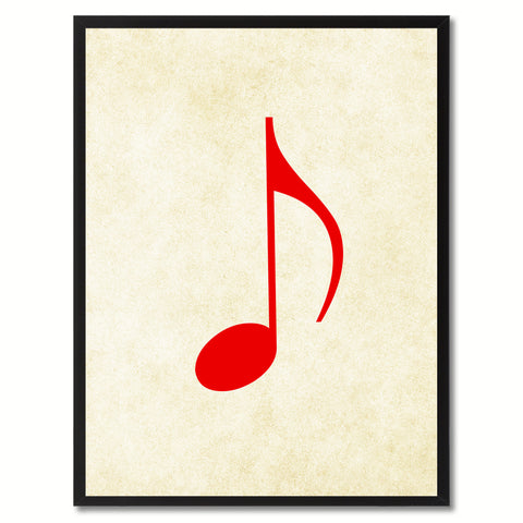 Quaver Music White Canvas Print Pictures Frames Office Home Décor Wall Art Gifts