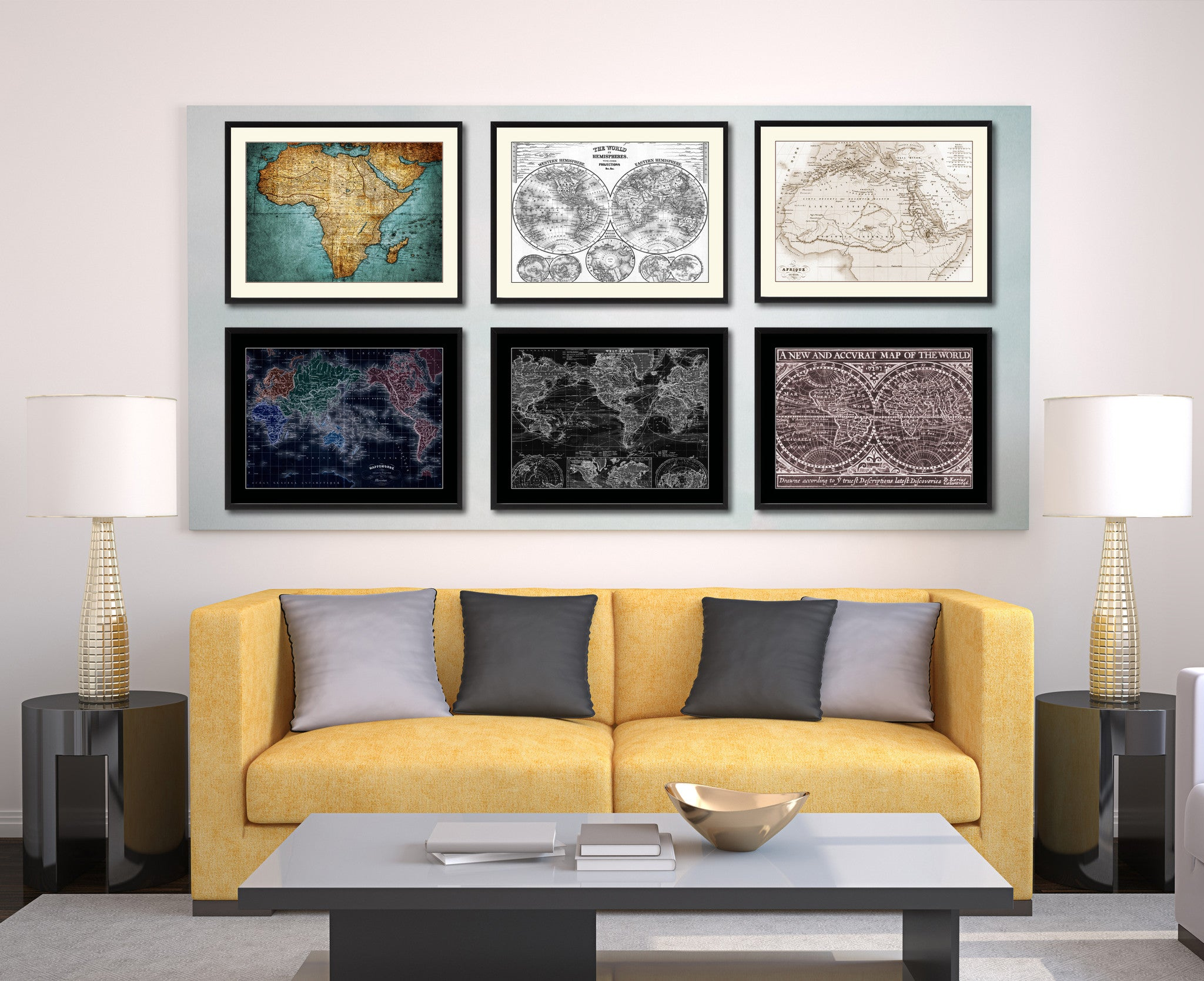 Ancient Africa Vintage Sepia Map Canvas Print, Picture Frame Gifts Home Decor Wall Art Decoration