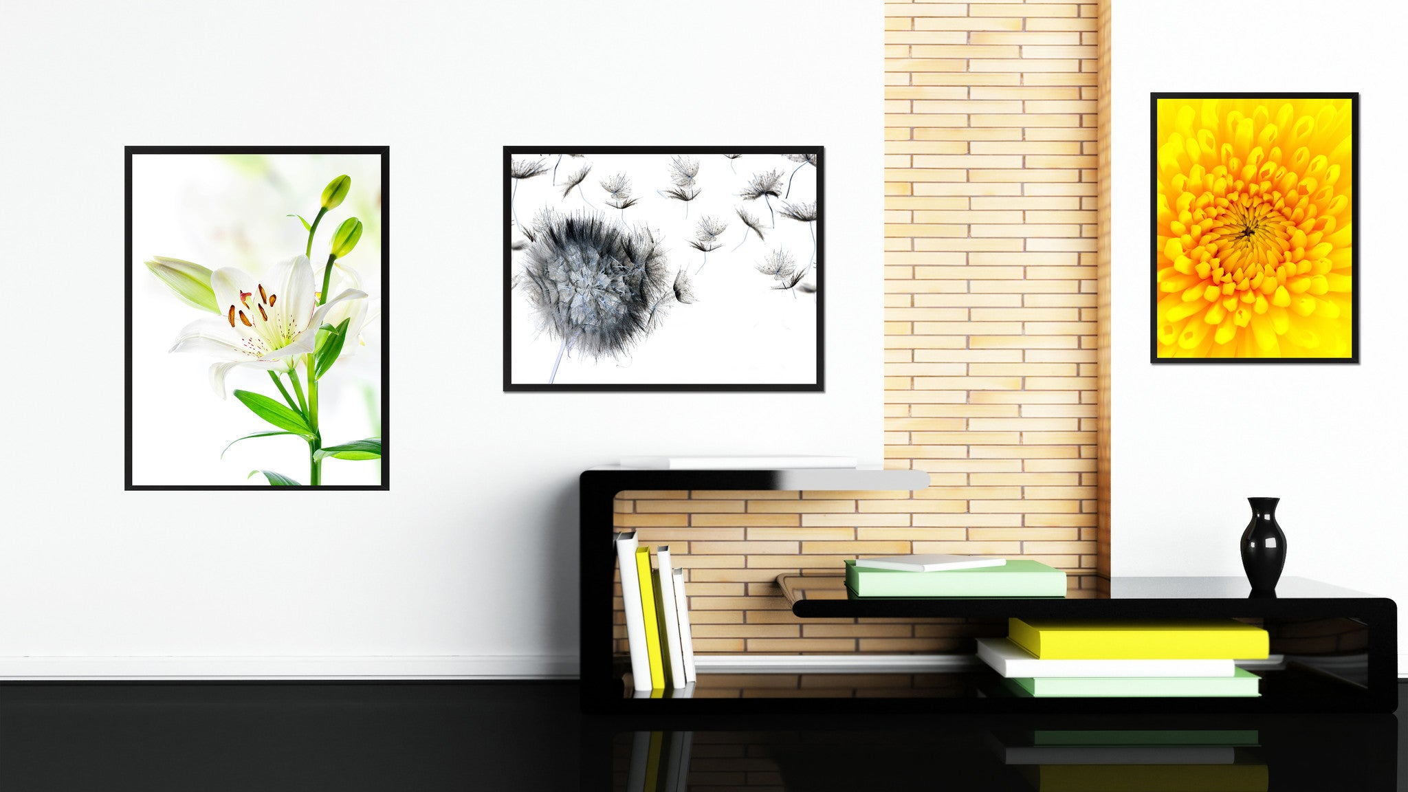 White Lily Flower Framed Canvas Print Home Décor Wall Art