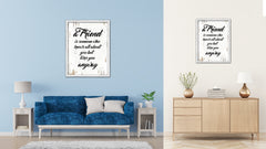 A Friend Is Someone Who Knows All About You Vintage Saying Gifts Home Decor Wall Art Canvas Print with Custom Picture Frame
