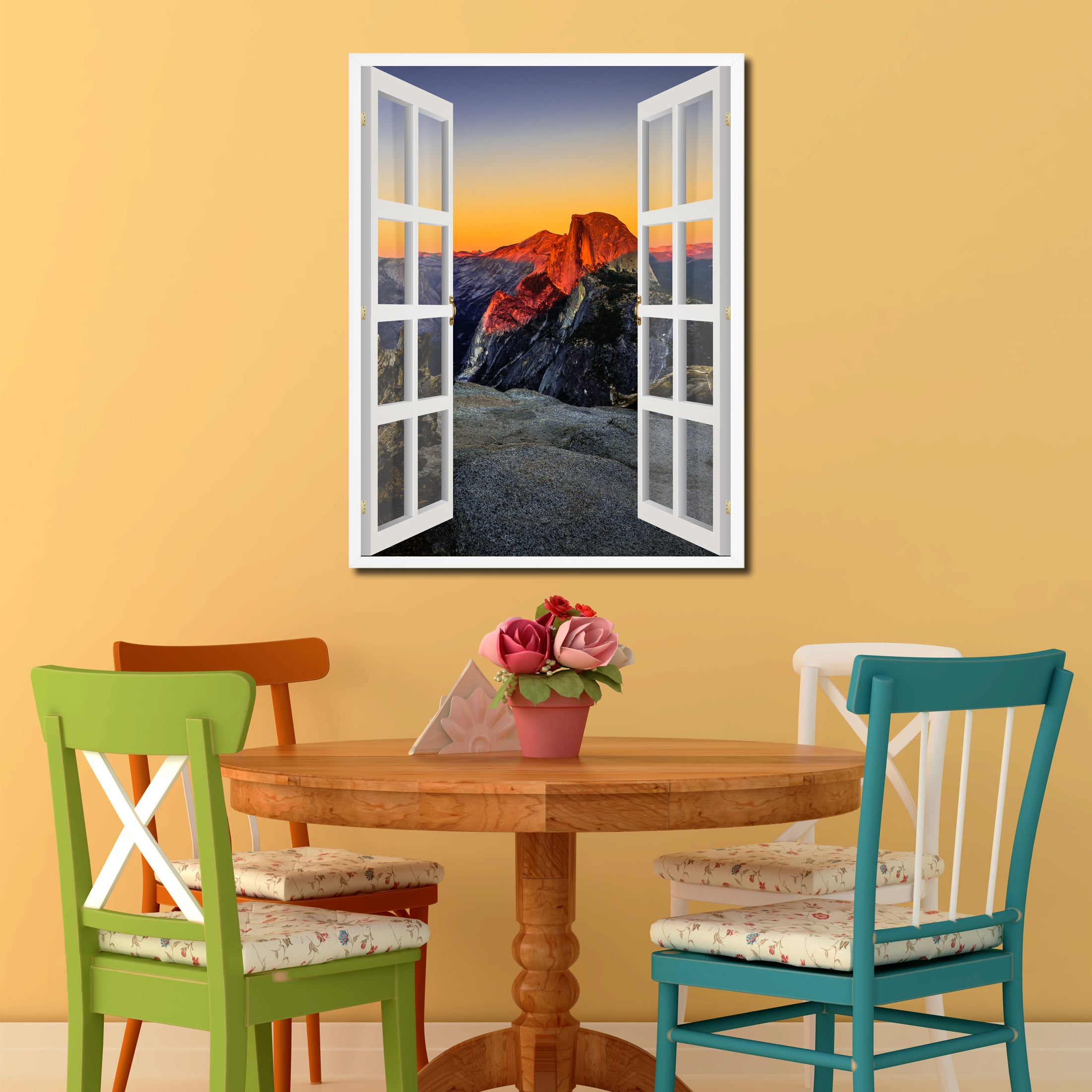 Half Dome At Sunset Yosemite Picture Window Wall Art Home Decor Gift ...