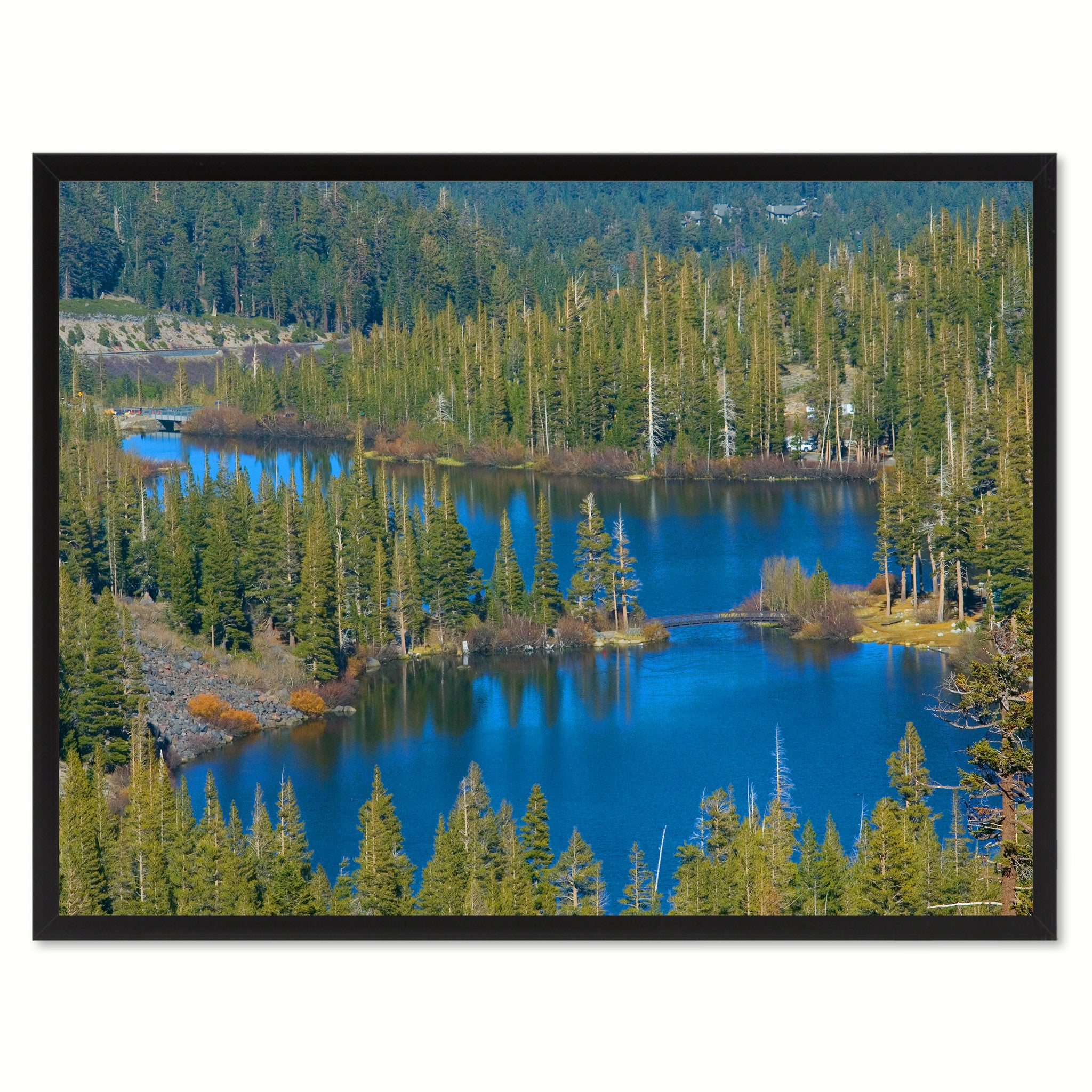 Twin Lake Mammoth Landscape Photo Canvas Print Pictures Frames Home Décor Wall Art Gifts