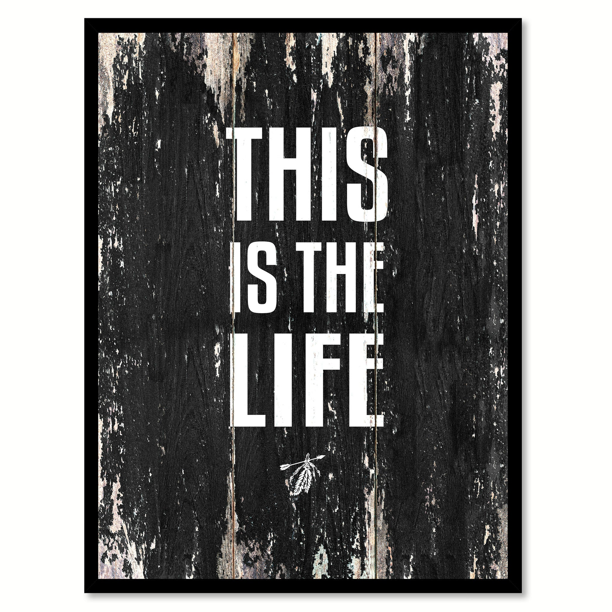 This is the life 1 Motivational Quote Saying Canvas Print with Picture Frame Home Decor Wall Art