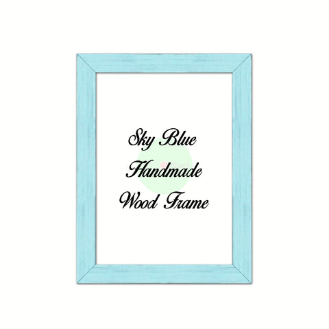 Sky Blue Wood Frame Wholesale Farmhouse Shabby Chic Picture Photo Poster Art Home Decor