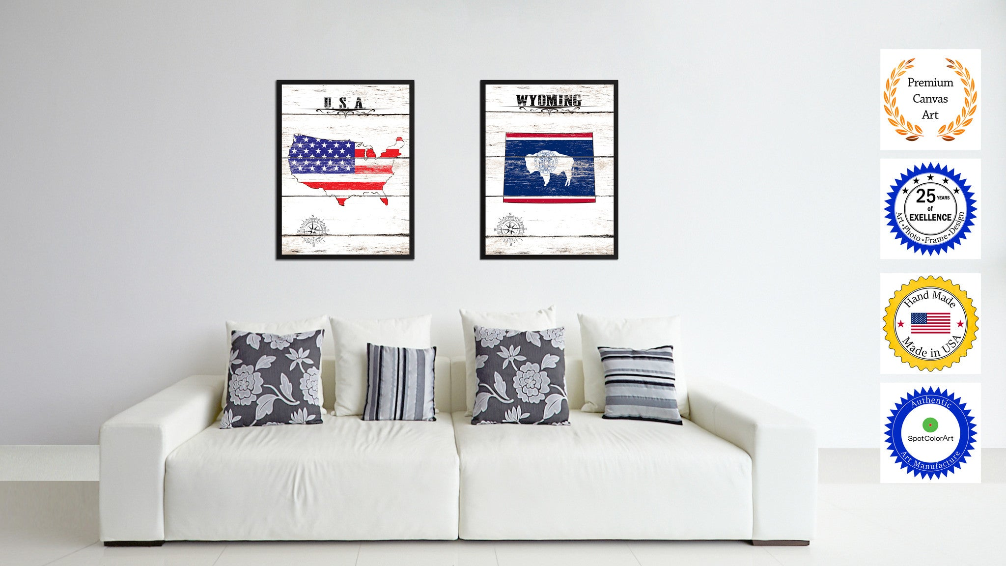 office wall frames. Wyoming State Flag Gifts Home Decor Wall Art Canvas Print Picture Frames Office