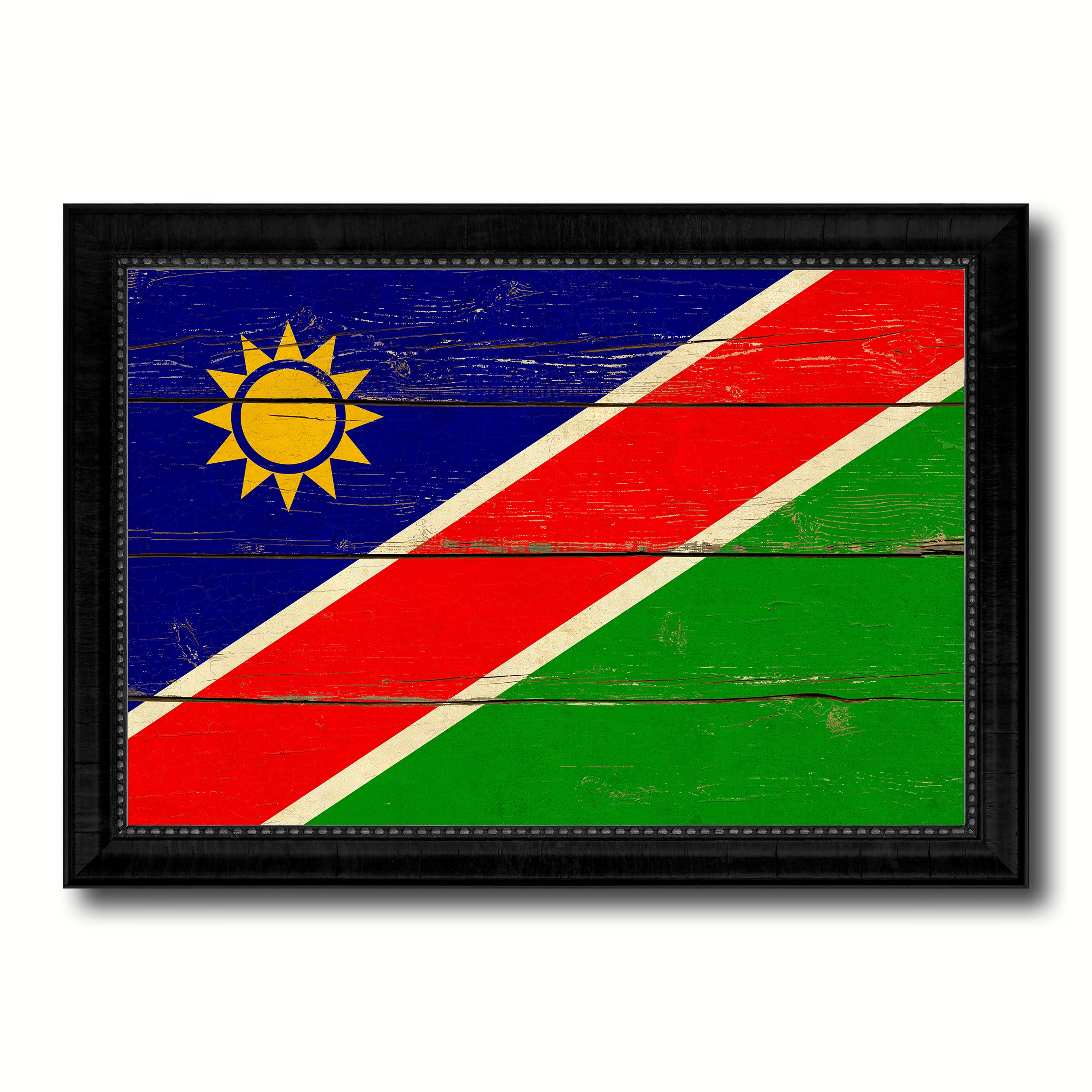 Namibia Country Flag Vintage Canvas Print with Black Picture Frame Home Decor Gifts Wall Art Decoration Artwork