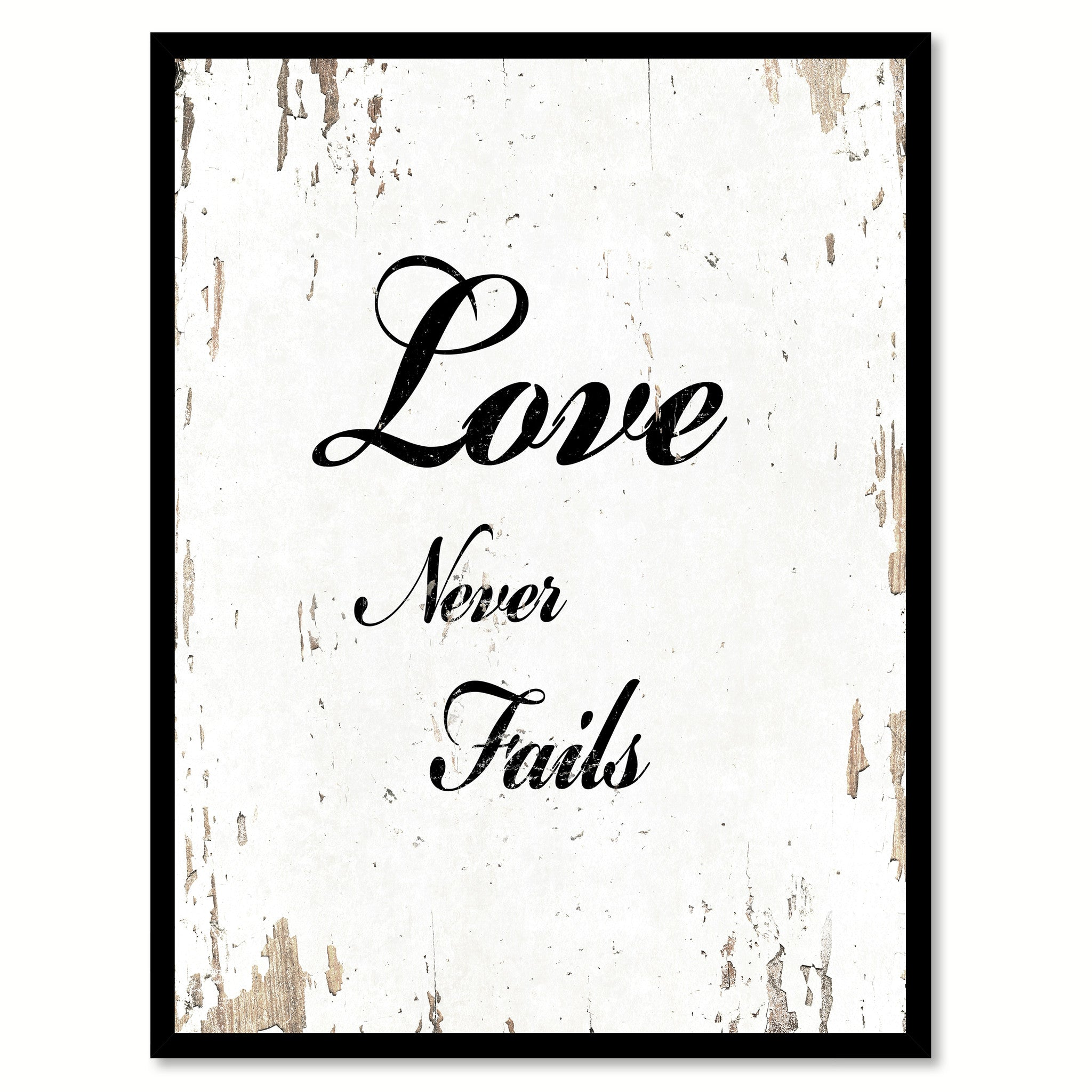 Love Never Fails Quote Love Never Fails Inspirational Motivation Quote Saying Canvas
