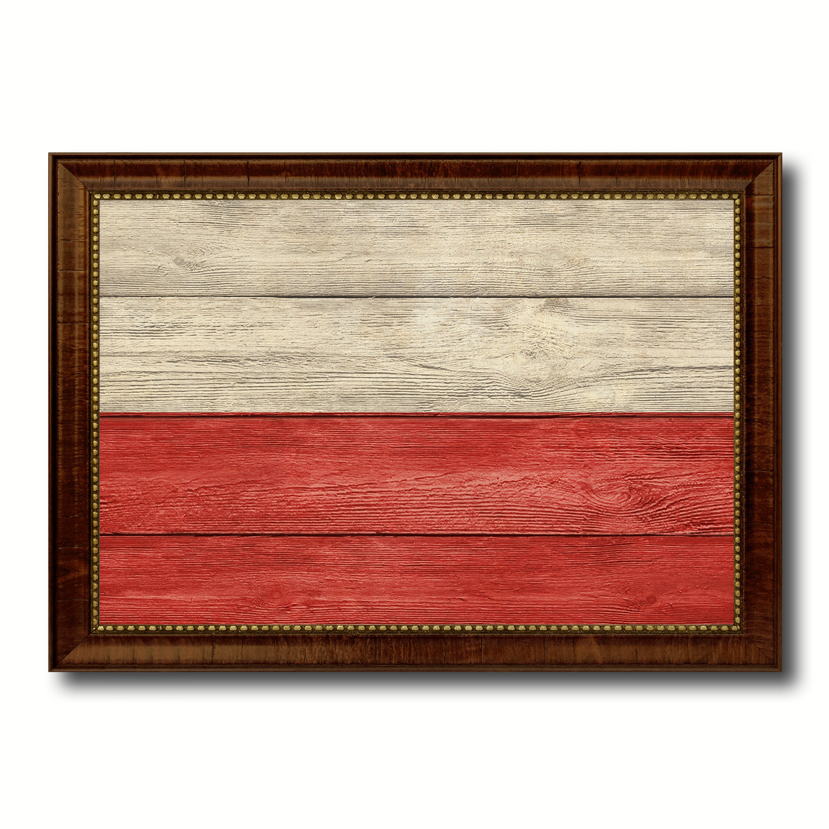 Poland Country Flag Texture Home Decor Gift Ideas Wall Art Decoration Collection SpotColorArt
