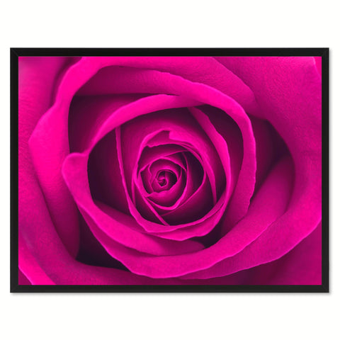 Pink Rose Flower Canvas Print with Picture Frame Floral Home Decor Wall Art Living Room Decoration Gifts