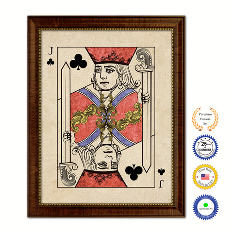 King Spades Poker Decks of Vintage Cards Print on Canvas Black Custom Framed