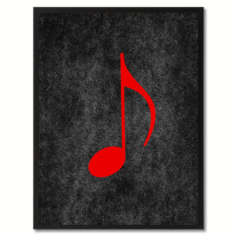 Treble Music Orange Canvas Print Pictures Frames Office Home Décor Wall Art Gifts