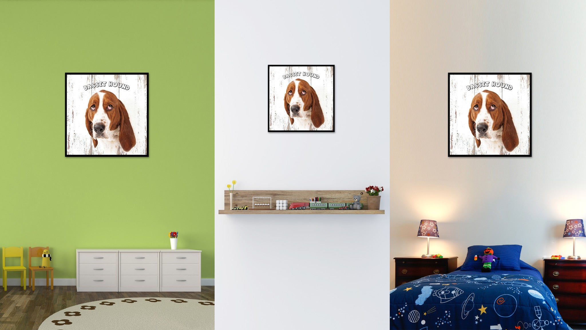 Basset Hound Dog Canvas Print Picture Frame Gift Home Decor Wall Art Decoration