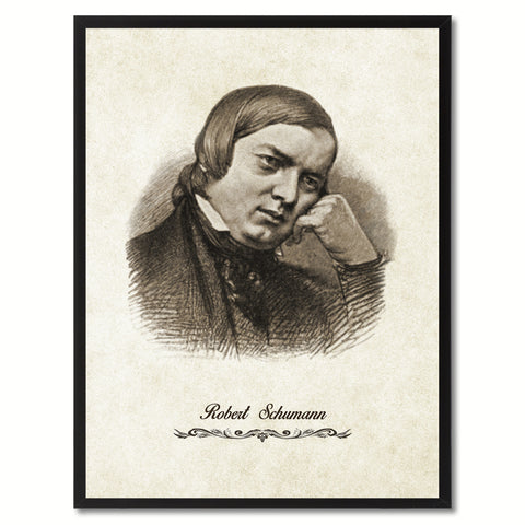 Schumann Musician Canvas Print Pictures Frames Music Home Décor Wall Art Gifts