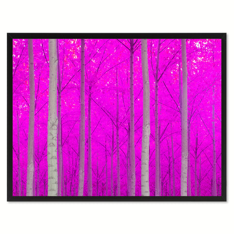 Autumn Tree Pink Landscape Photo Canvas Print Pictures Frames Home Décor Wall Art Gifts