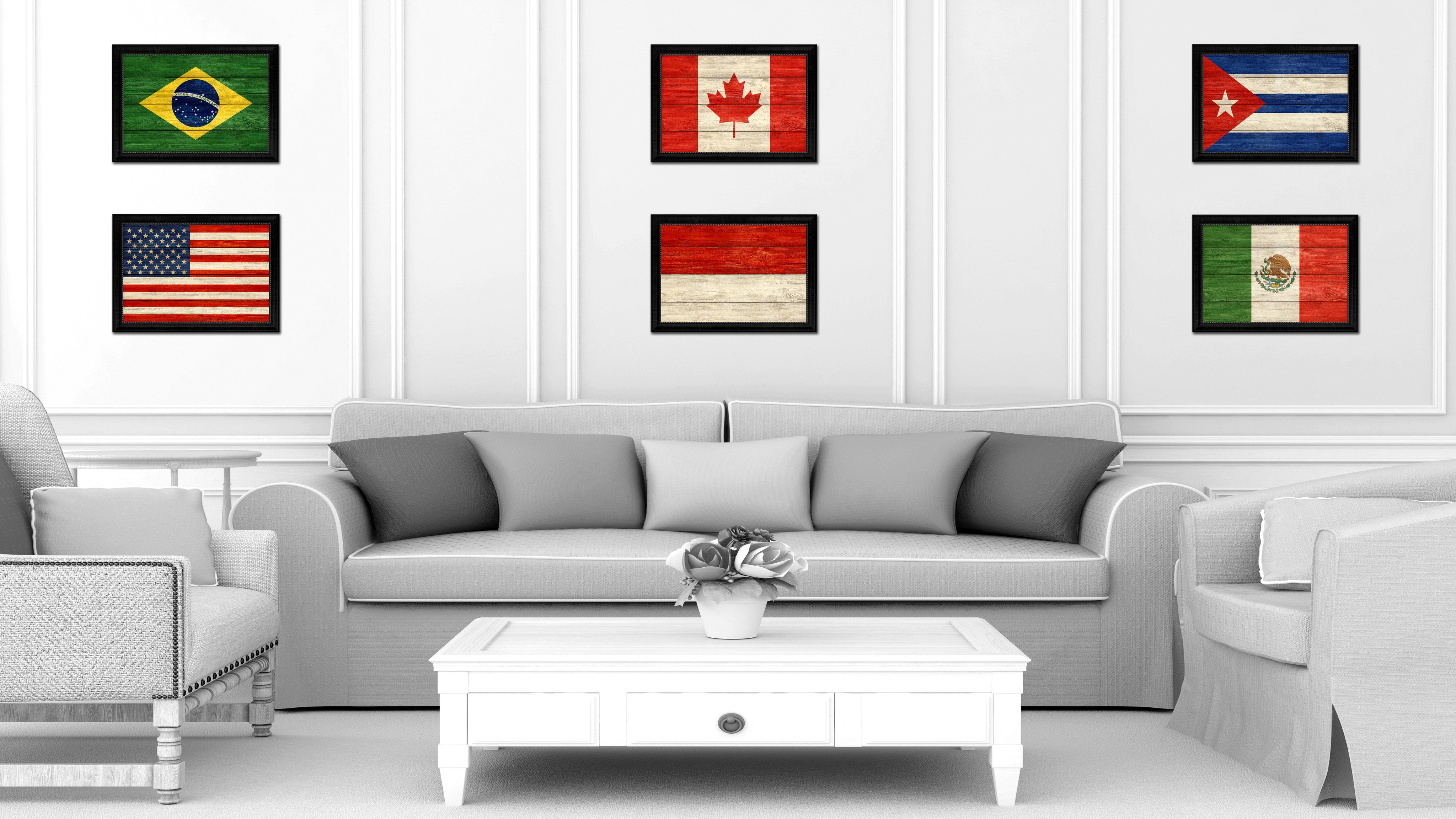 Indonesia Country Texture Flag Rustic Vintage Giclée Print Home ...