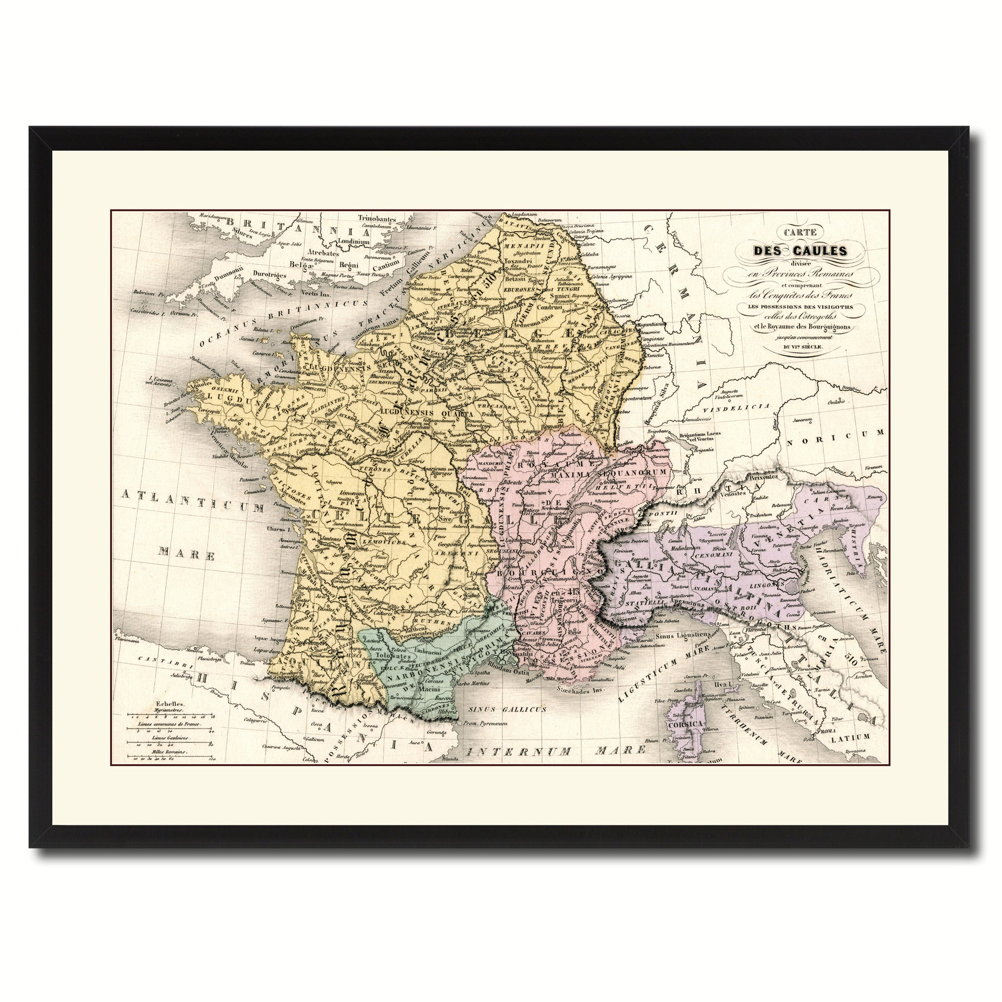 France Vintage Antique Map Wall Art Bedroom Home Decor Gift Ideas ...