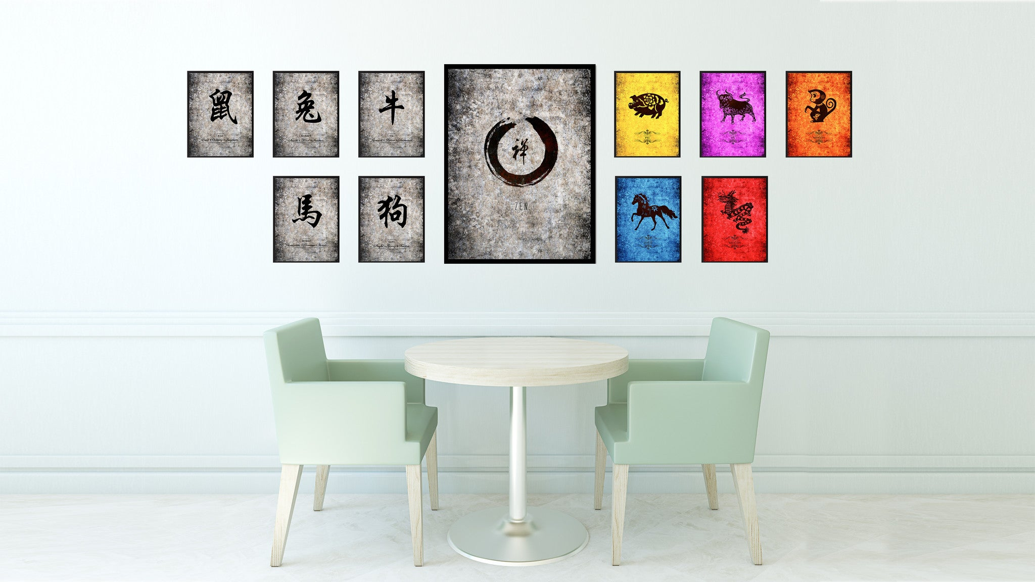 Zen Horoscope Astrology Canvas Print Picture Frame Home Decor Wall Art Gift