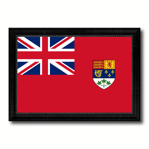 Canadian Red Ensign City Canada Country Flag Canvas Print Black Picture Frame