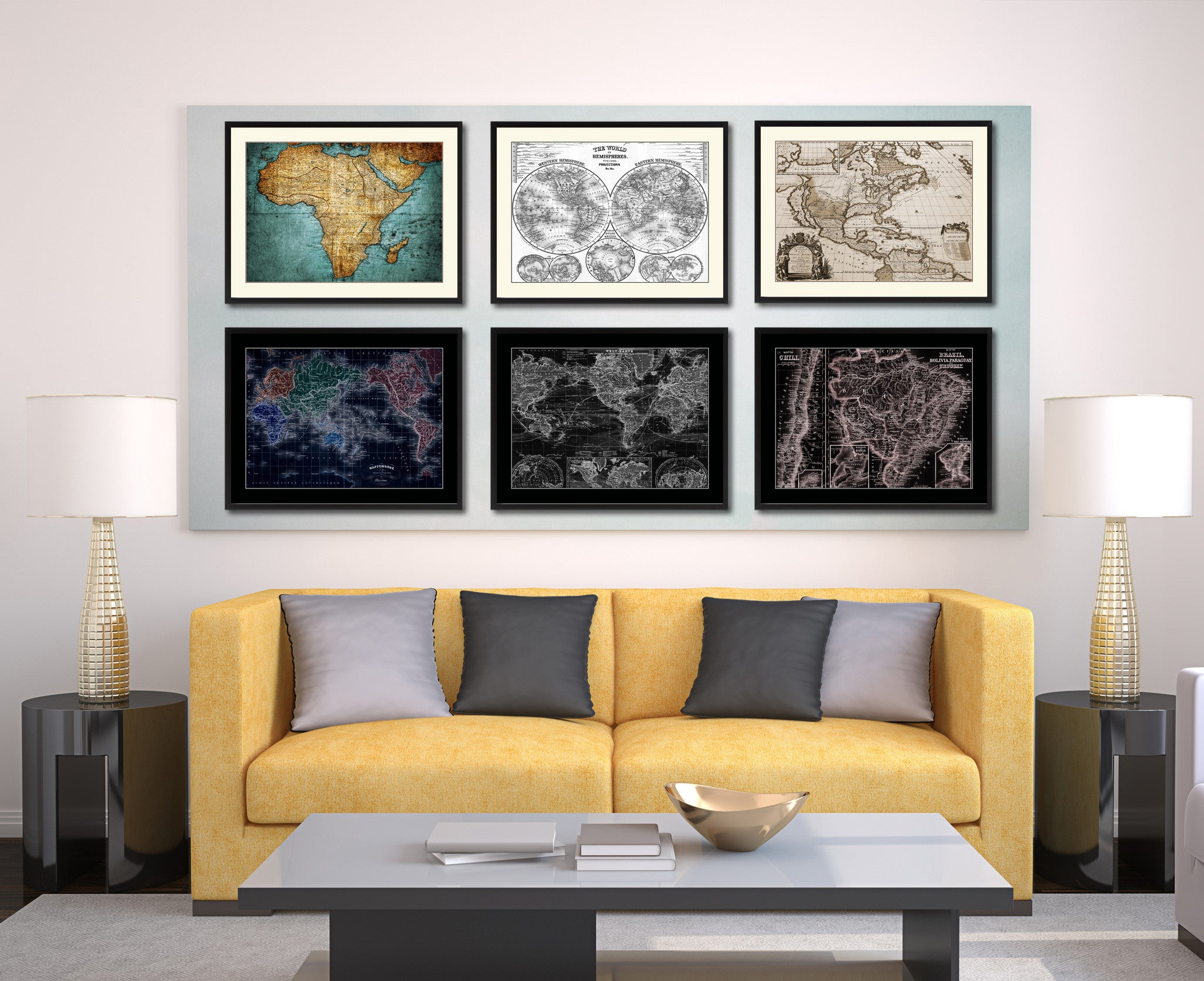 Afghanistan Persia Iraq Iran Vintage Vivid Sepia Map Canvas Print, Picture Frames Home Decor Wall Art Decoration Gifts