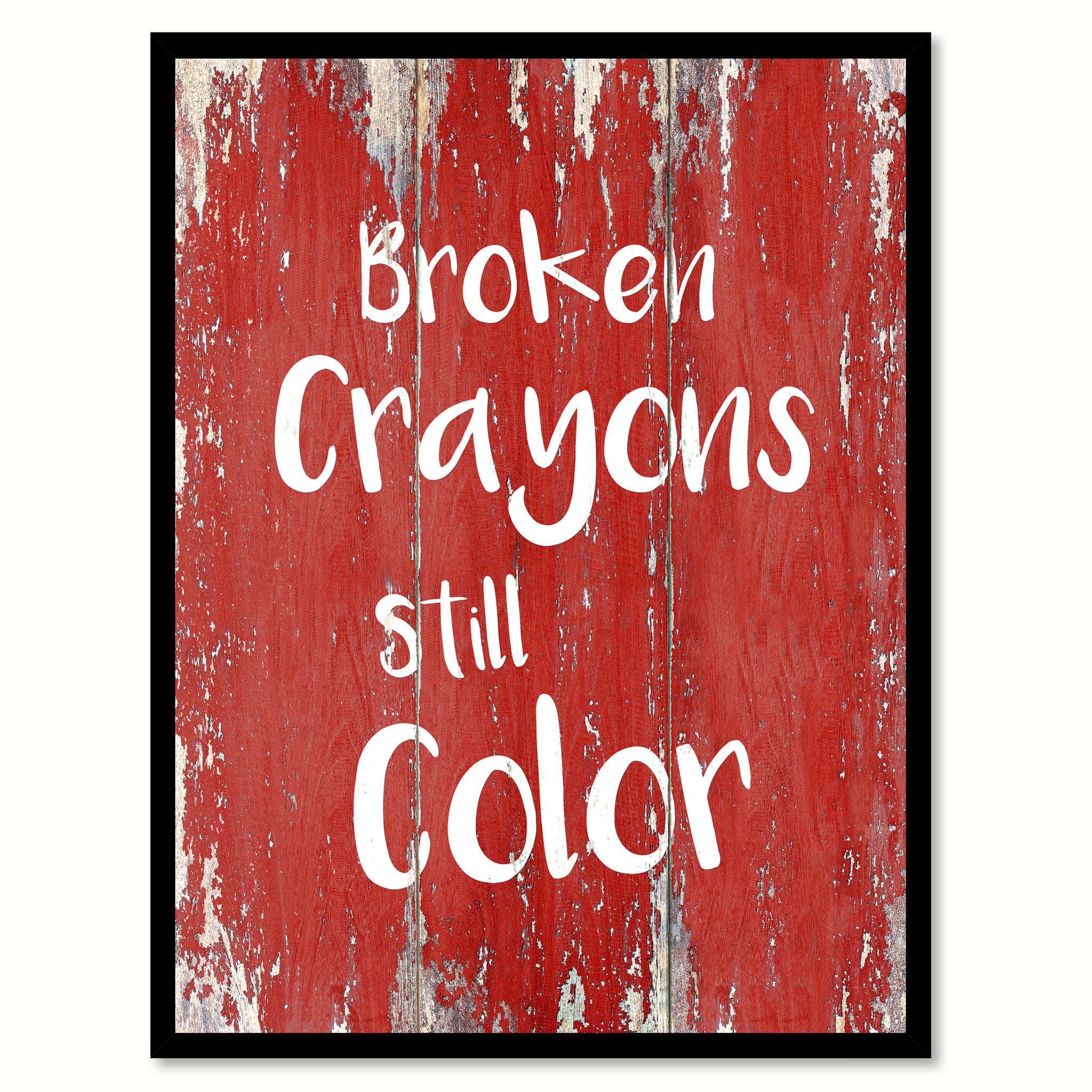 Broken Crayons Still Color Inspirational Quote Saying Canvas Print