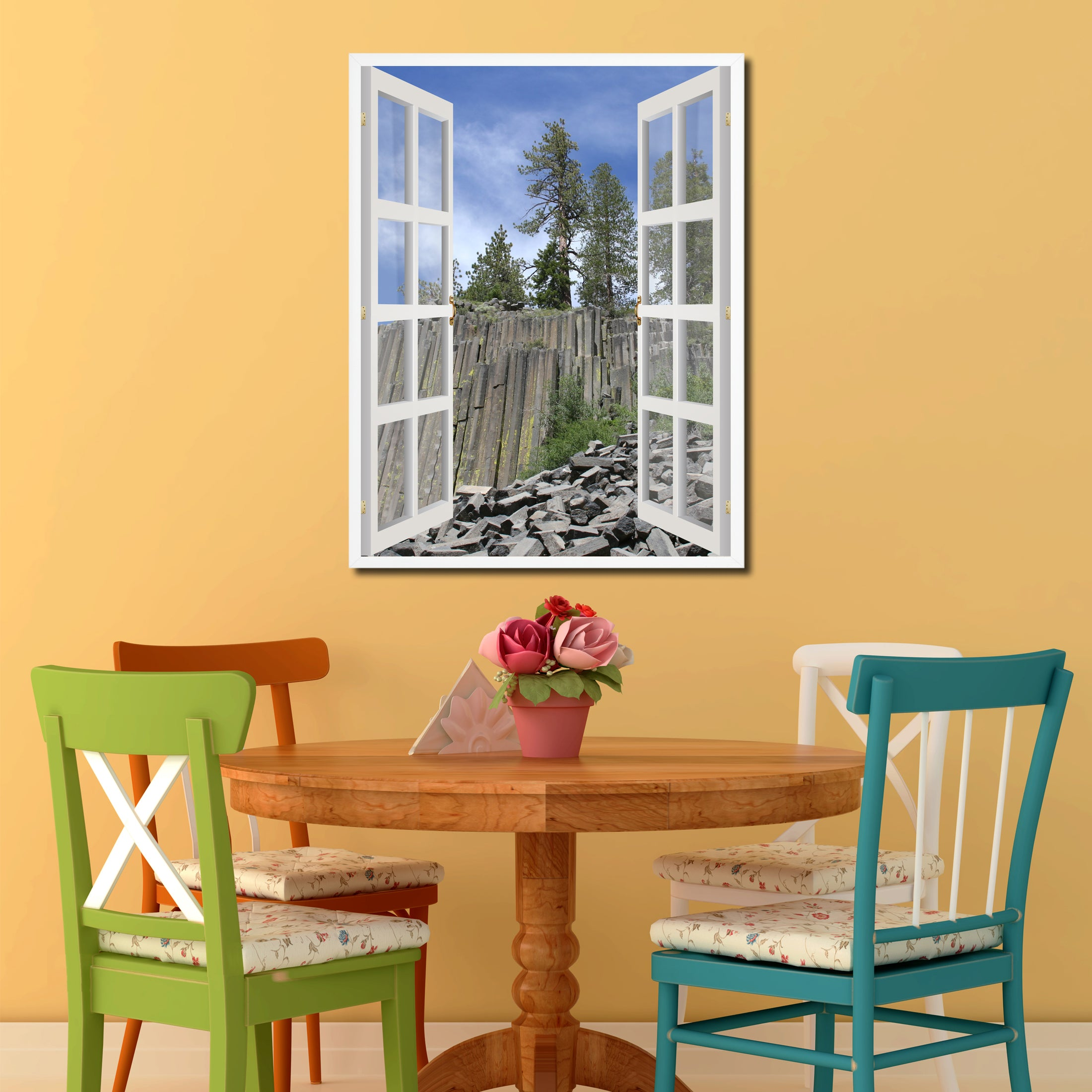 Devils Tower National Monument Picture Window Wall Art Home Decor ...