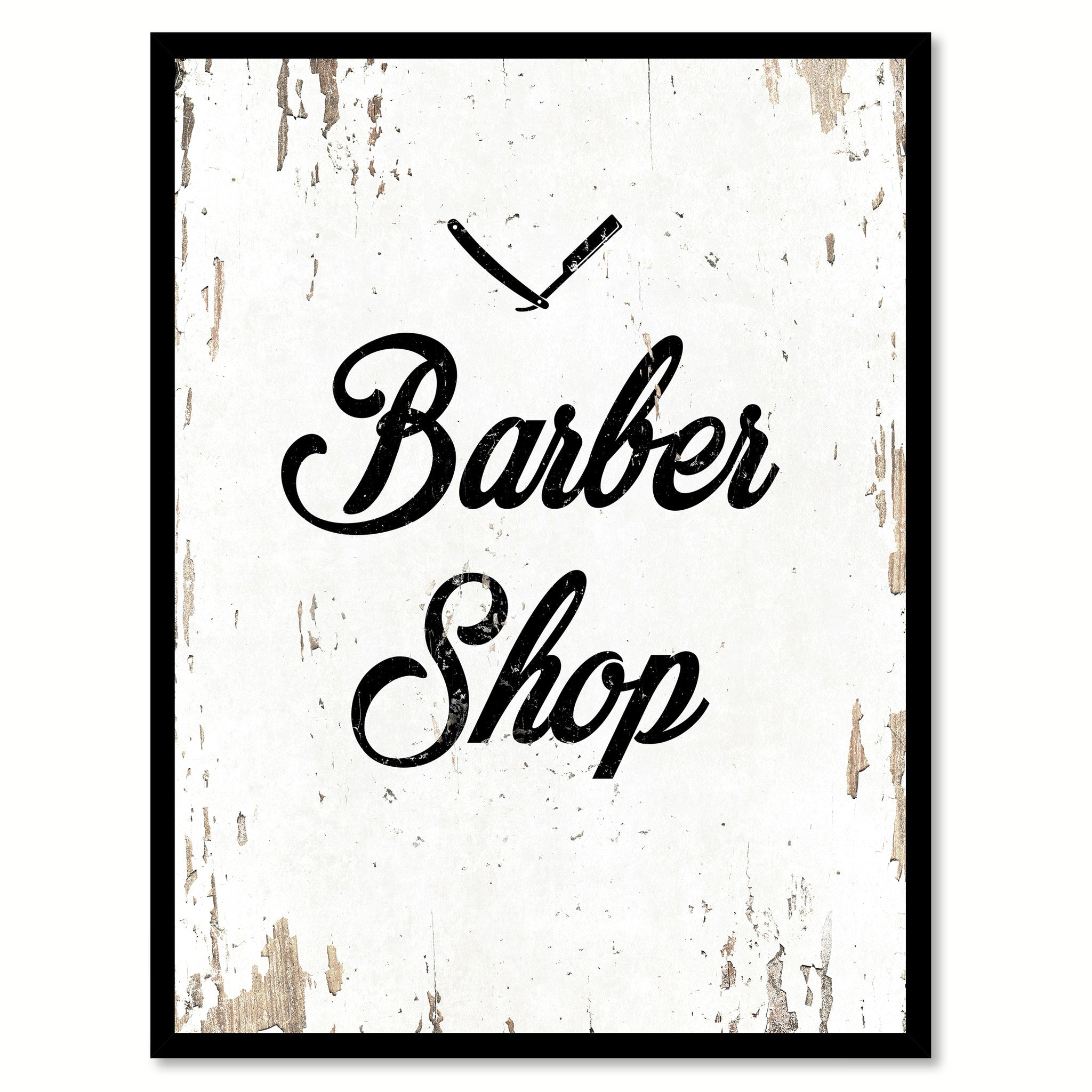Barber Shop Inspirational Motivation Quote Saying Canvas Print With