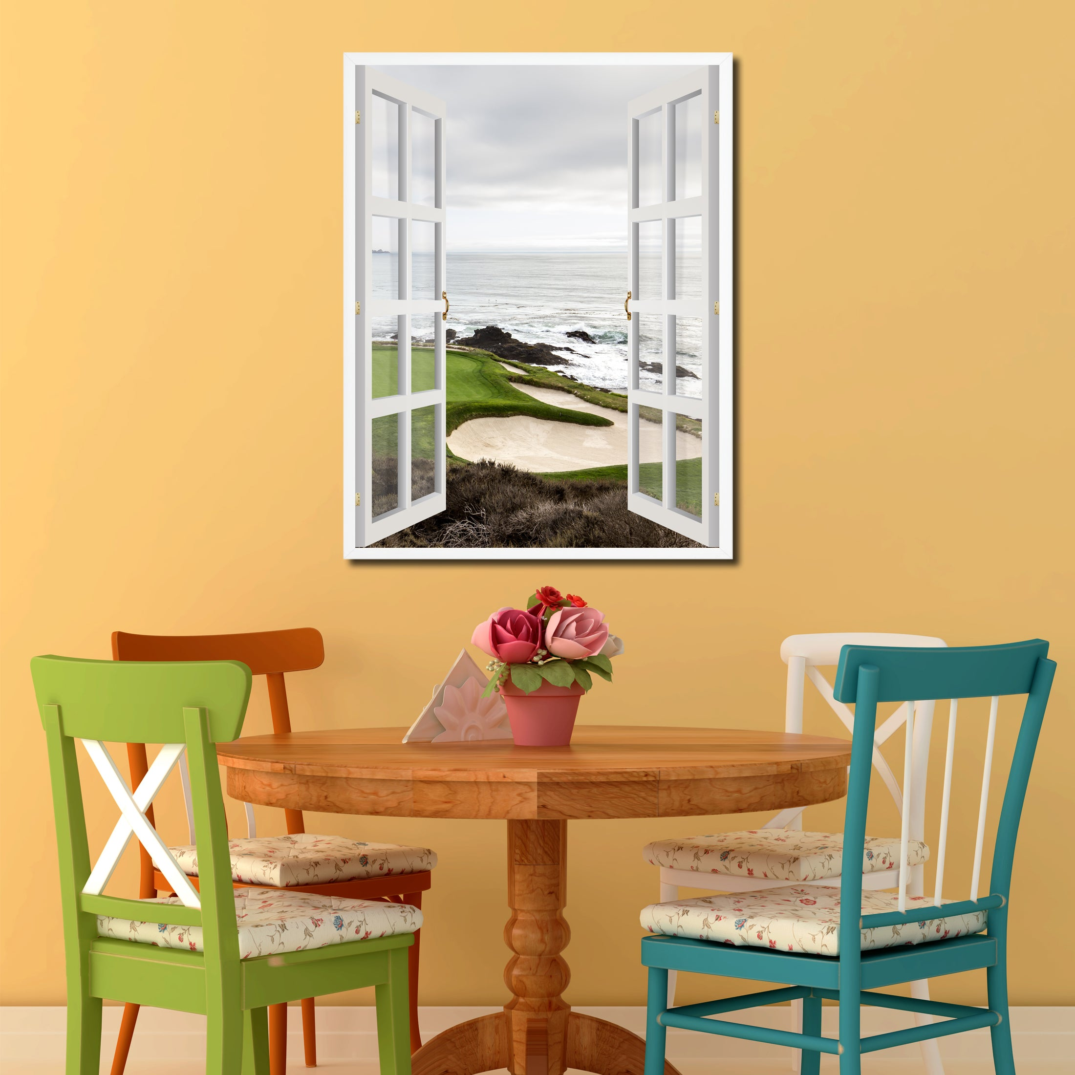Pebble Beach California Golf Course Picture Window Wall Art Home ...