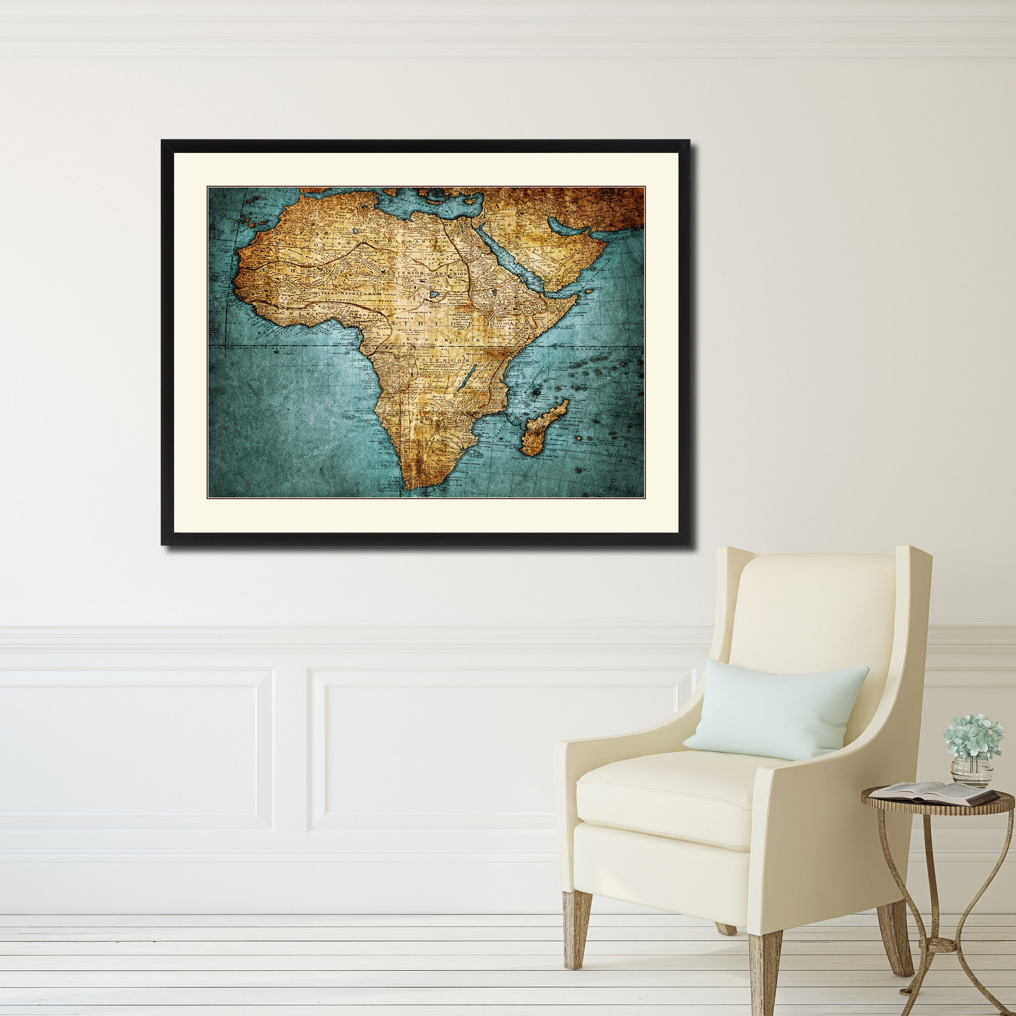 Africa Mapmaker Vintage Antique Map Wall Art Home Decor Gift Ideas Canvas Print Custom Picture Frame