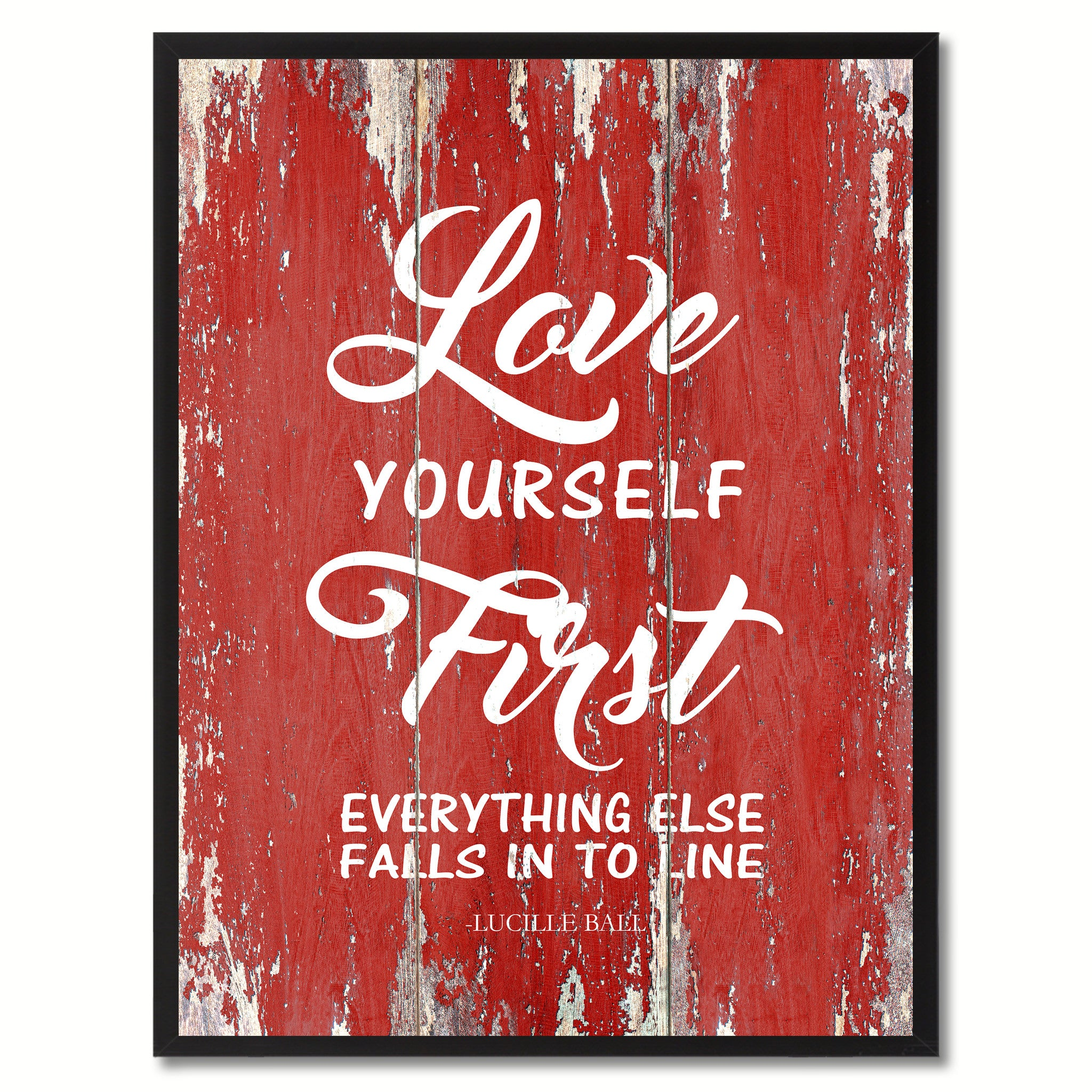 Love Yourself First Everything Else Inspirational Quote Saying Gifts