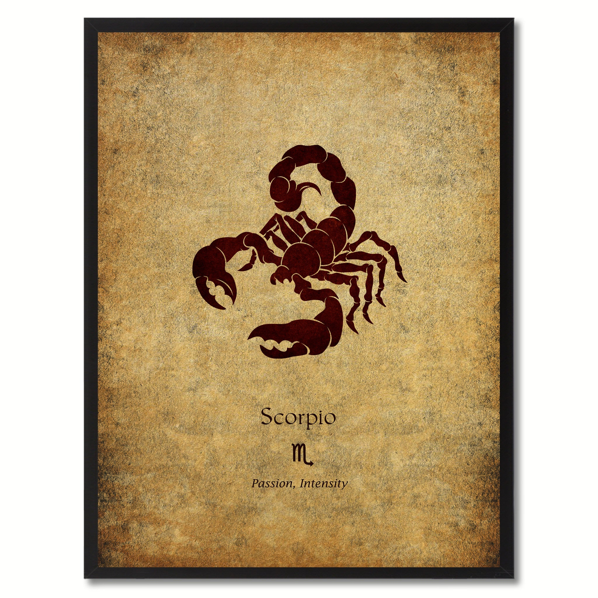 Zodiac Scorpio Horoscope Astrology Canvas Print, Black Picture Frame Home  Decor Wall Art Gift