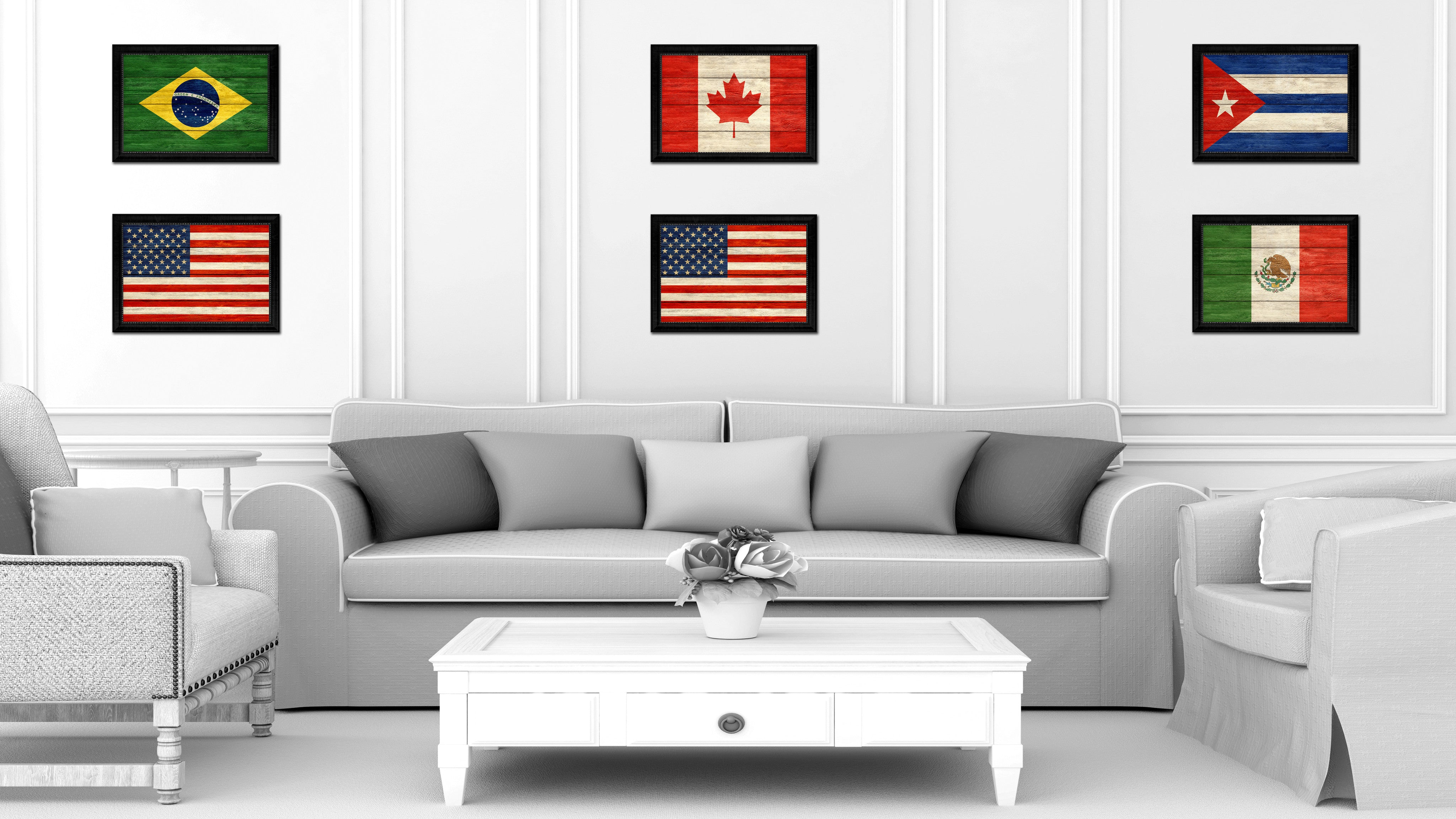 Usa Country Texture Flag Rustic Vintage Giclee Print Home Decor Gift