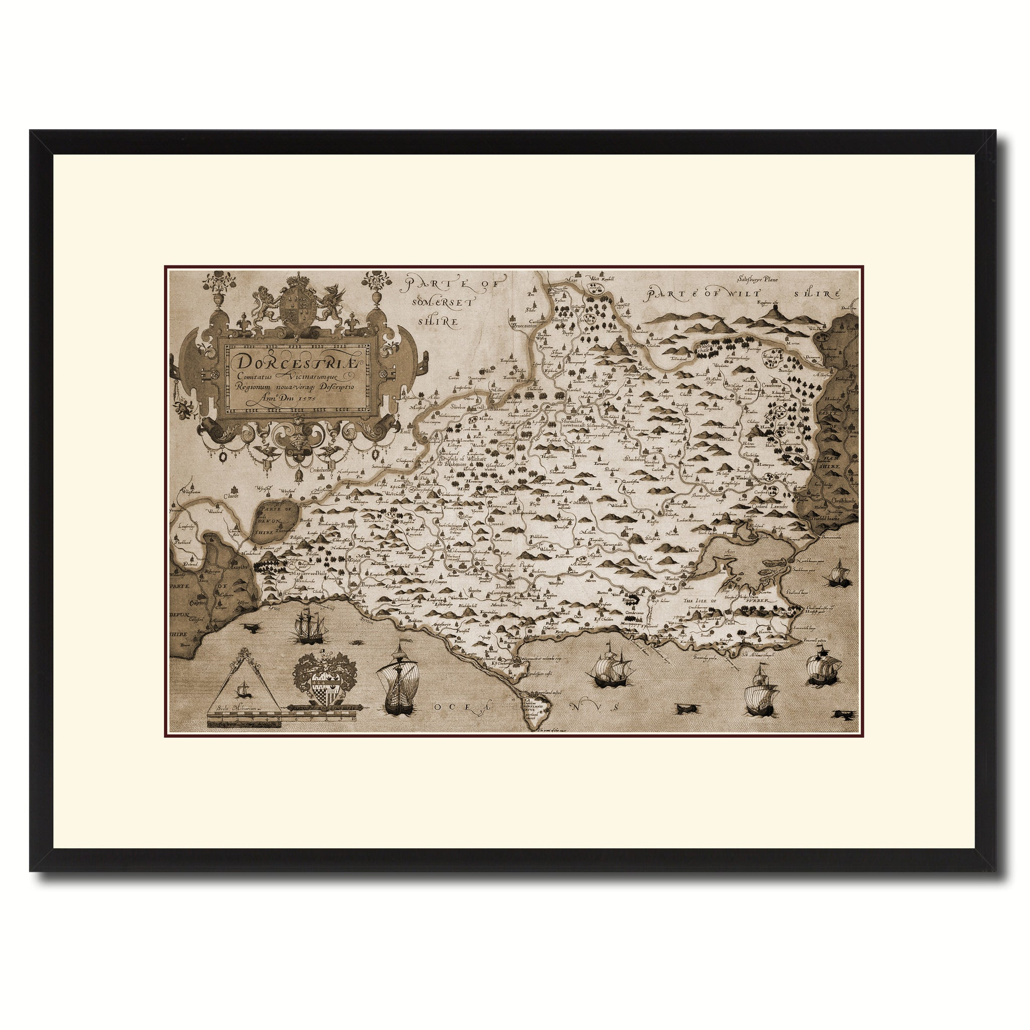 Atlas Of England u0026 Wales Vintage Sepia Map Canvas Print Picture Frame Gifts Home Decor Wall Art Decoration  sc 1 st  SpotColorArt & Atlas Of England u0026 Wales Vintage Sepia Map Home Decor Wall Art ...